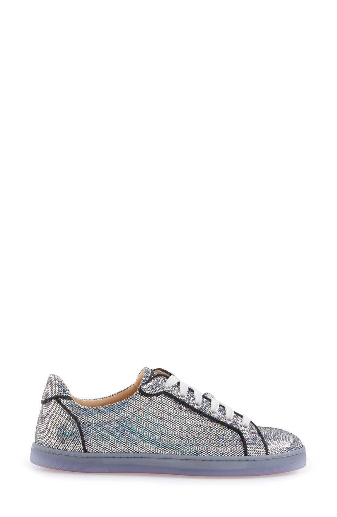 'Seava' Disco Ball Glitter Sneaker,                             Alternate thumbnail 4, color,                             040