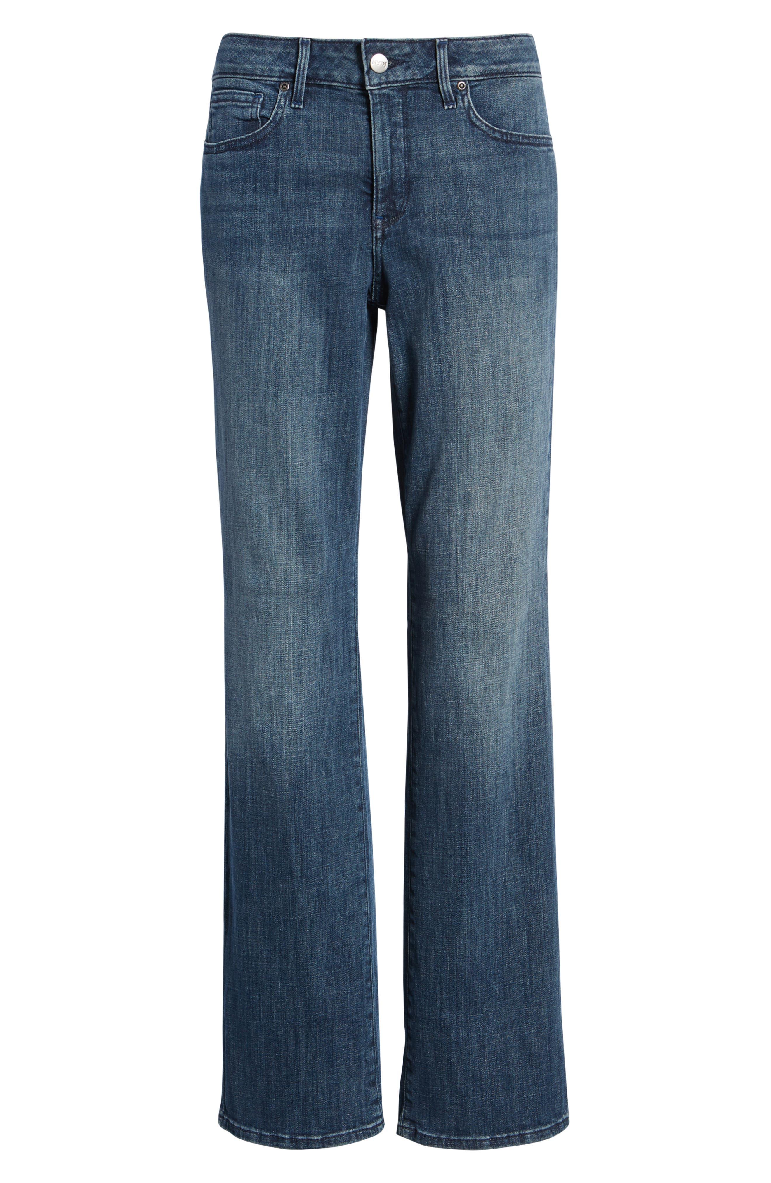 Marilyn Straight Leg Jeans,                             Alternate thumbnail 4, color,                             LUPINE