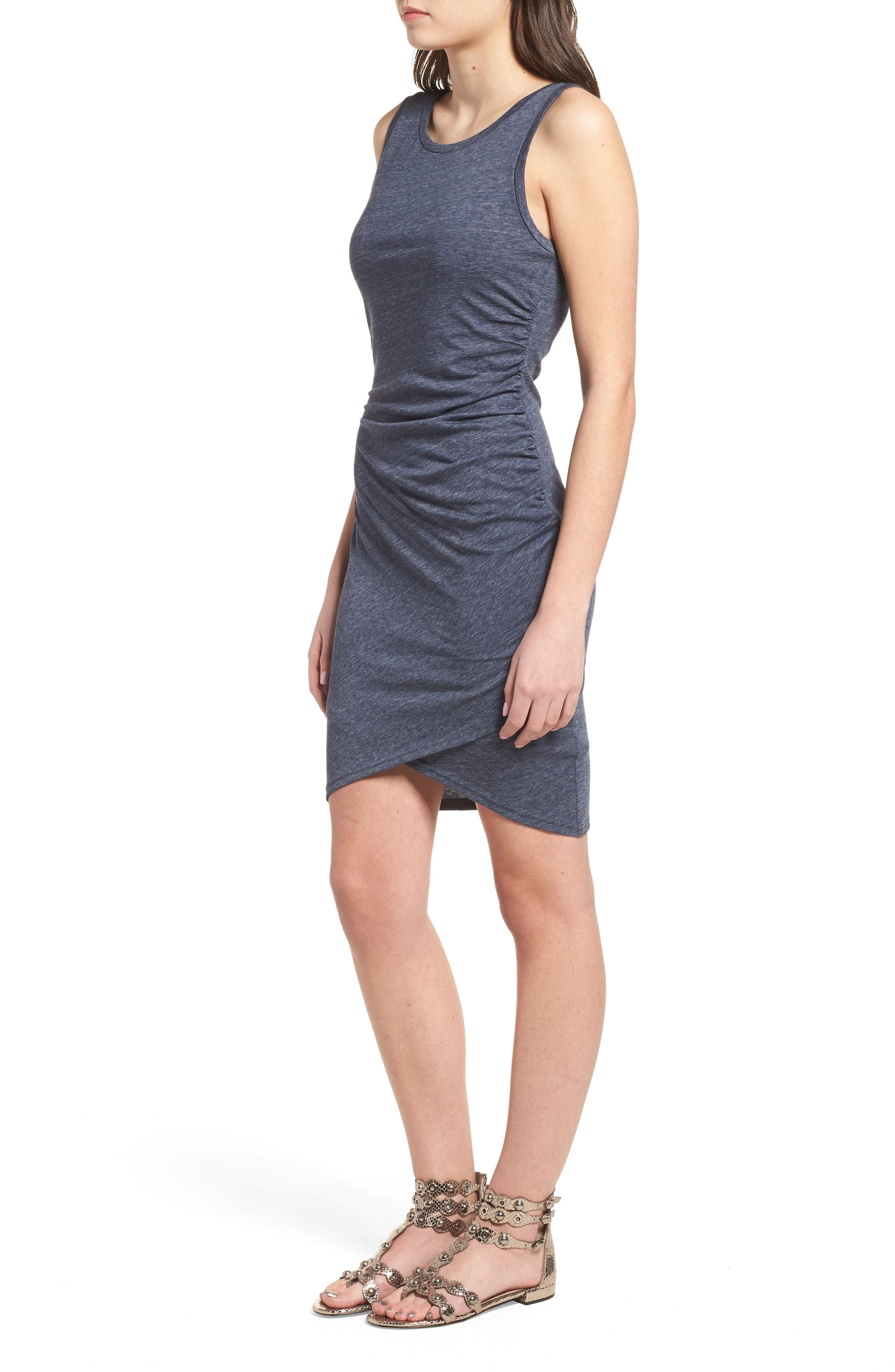 Ruched Body-Con Tank Dress,                             Alternate thumbnail 130, color,