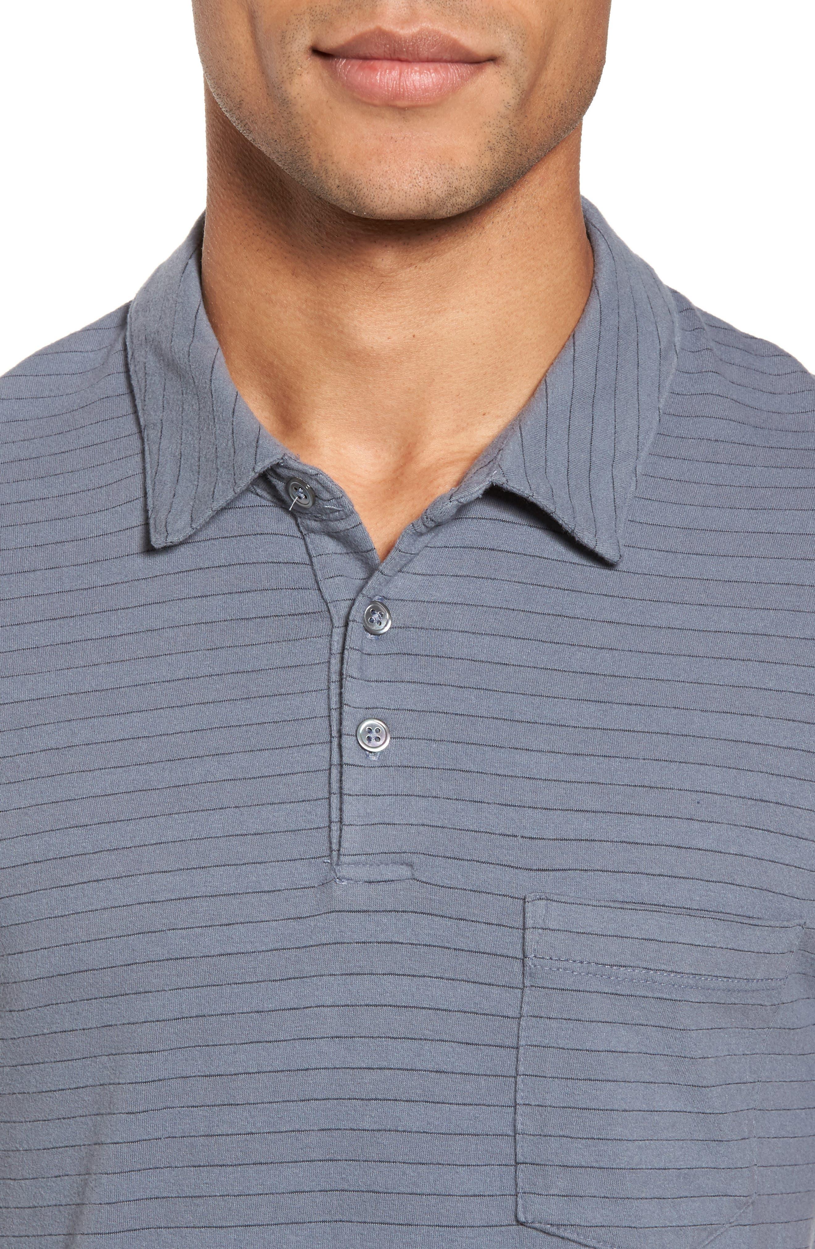 Shadow Stripe Jersey Pocket Polo,                             Alternate thumbnail 4, color,                             028