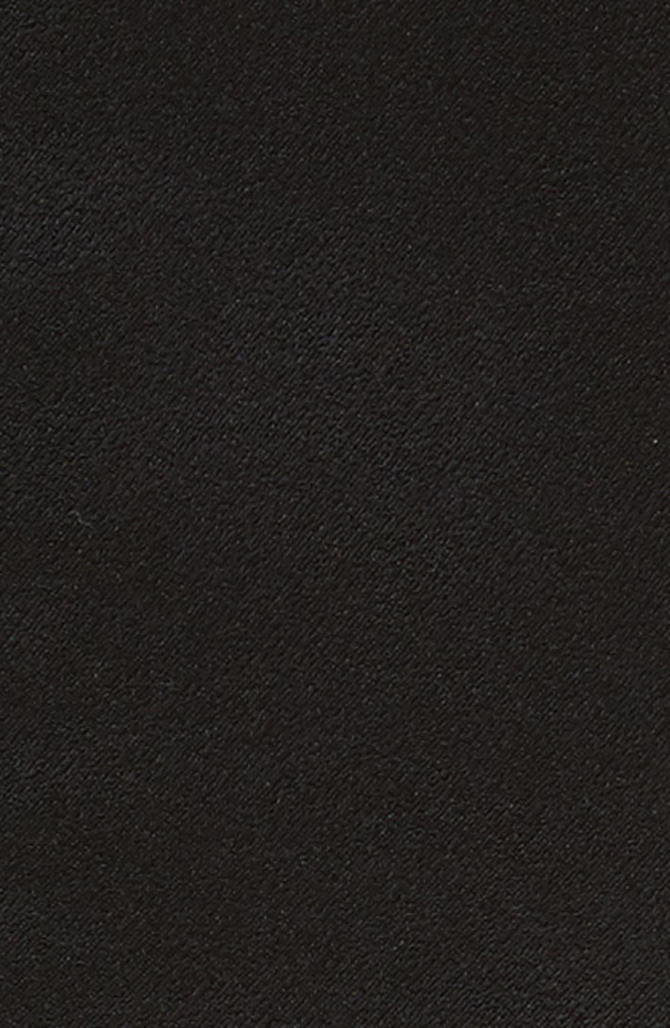 Lace Up Satin Crepe Jumpsuit,                             Alternate thumbnail 5, color,                             001
