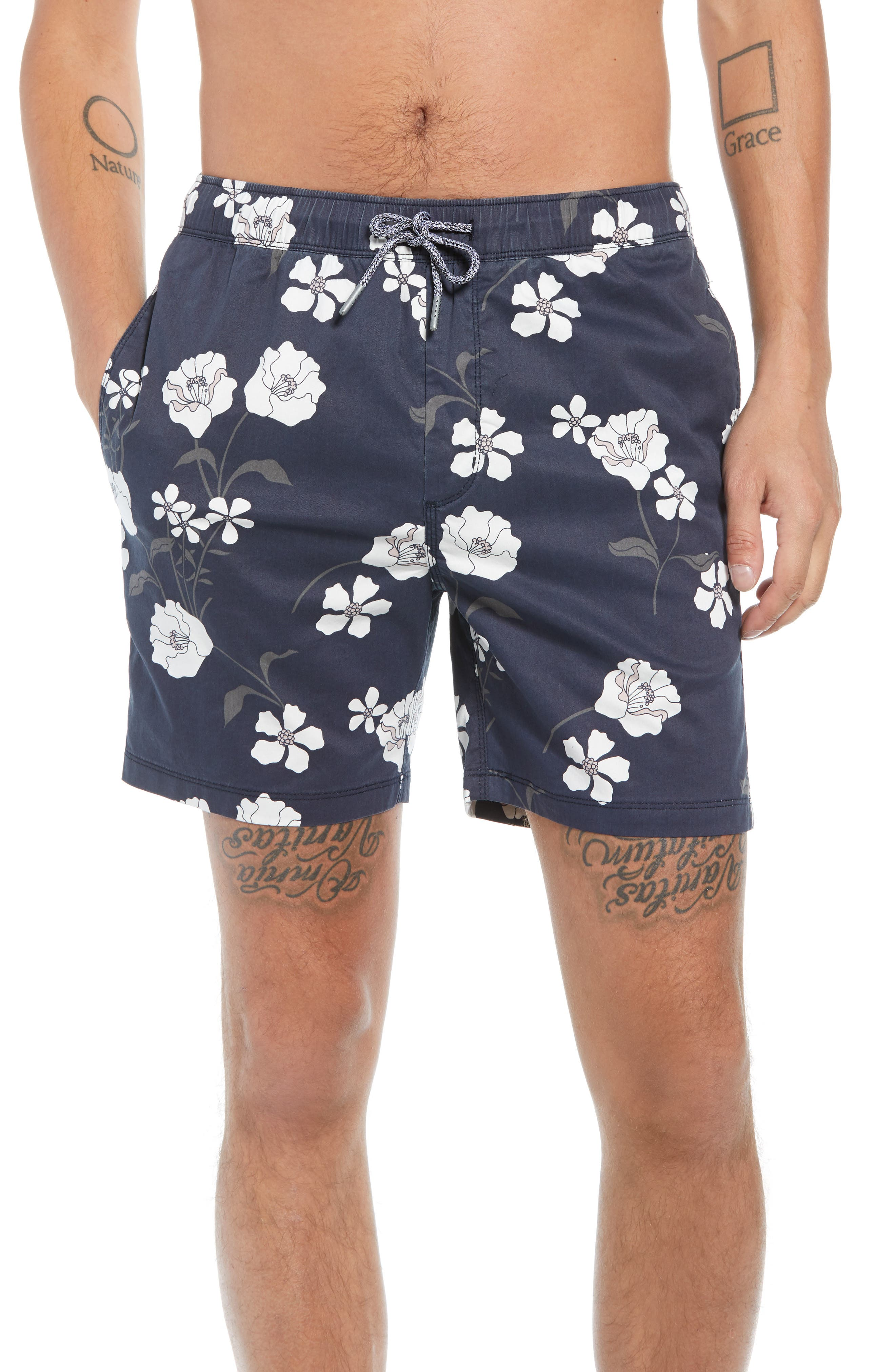 Laguna Board Shorts,                         Main,                         color, DUKE BLUE