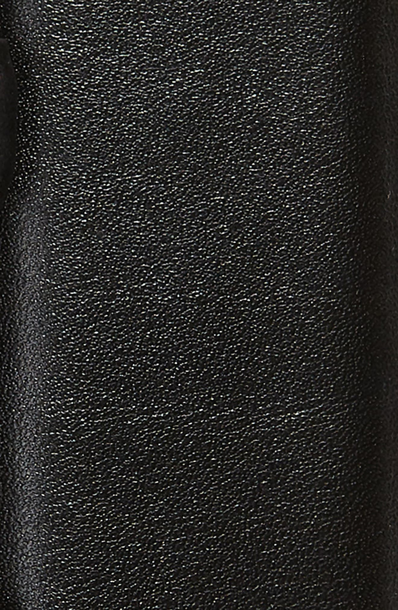 Leather Belt,                             Alternate thumbnail 2, color,                             BLACK/ MATTE BLACK