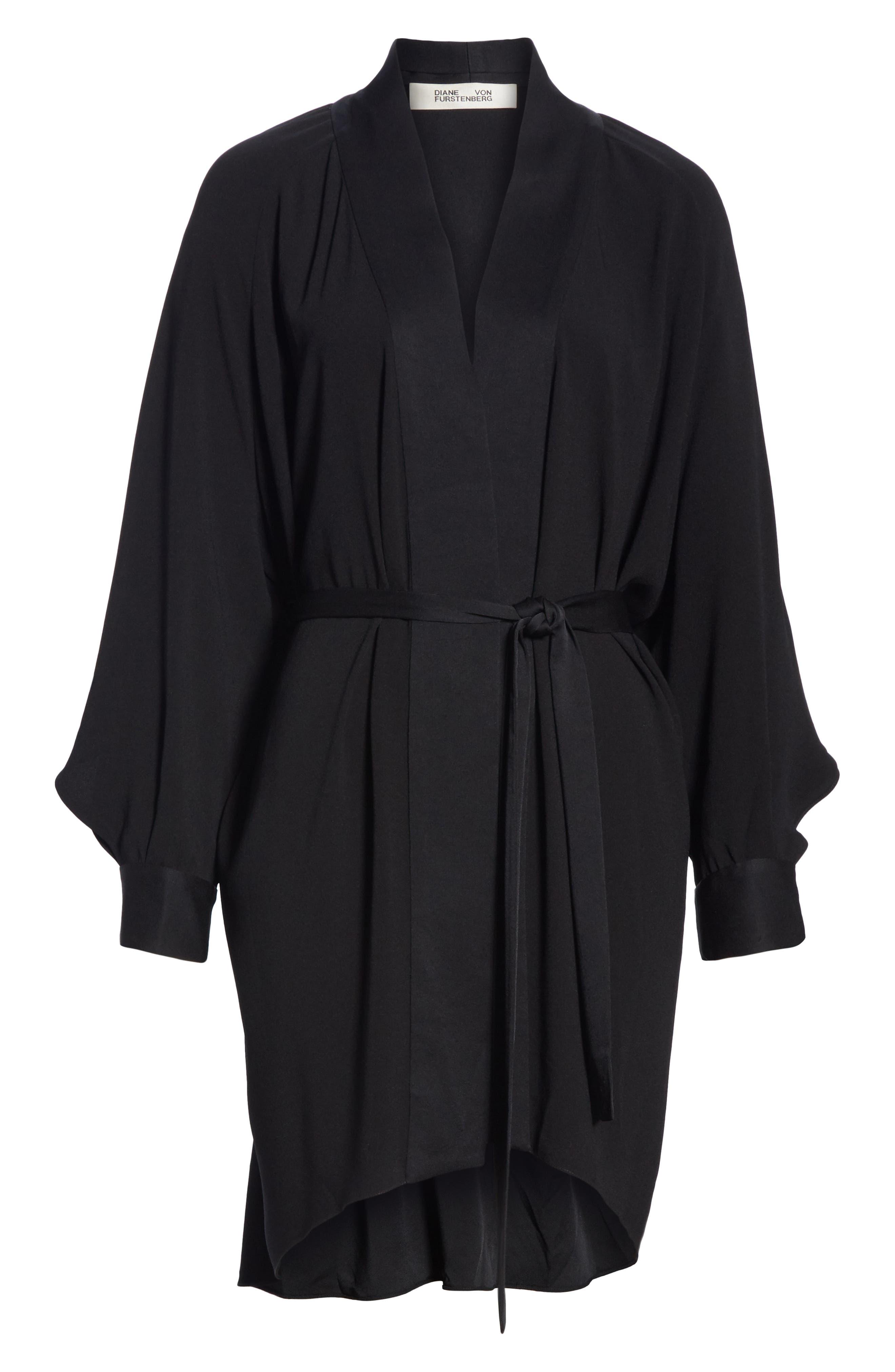 Deon Kimono Wrap,                             Alternate thumbnail 7, color,                             BLACK