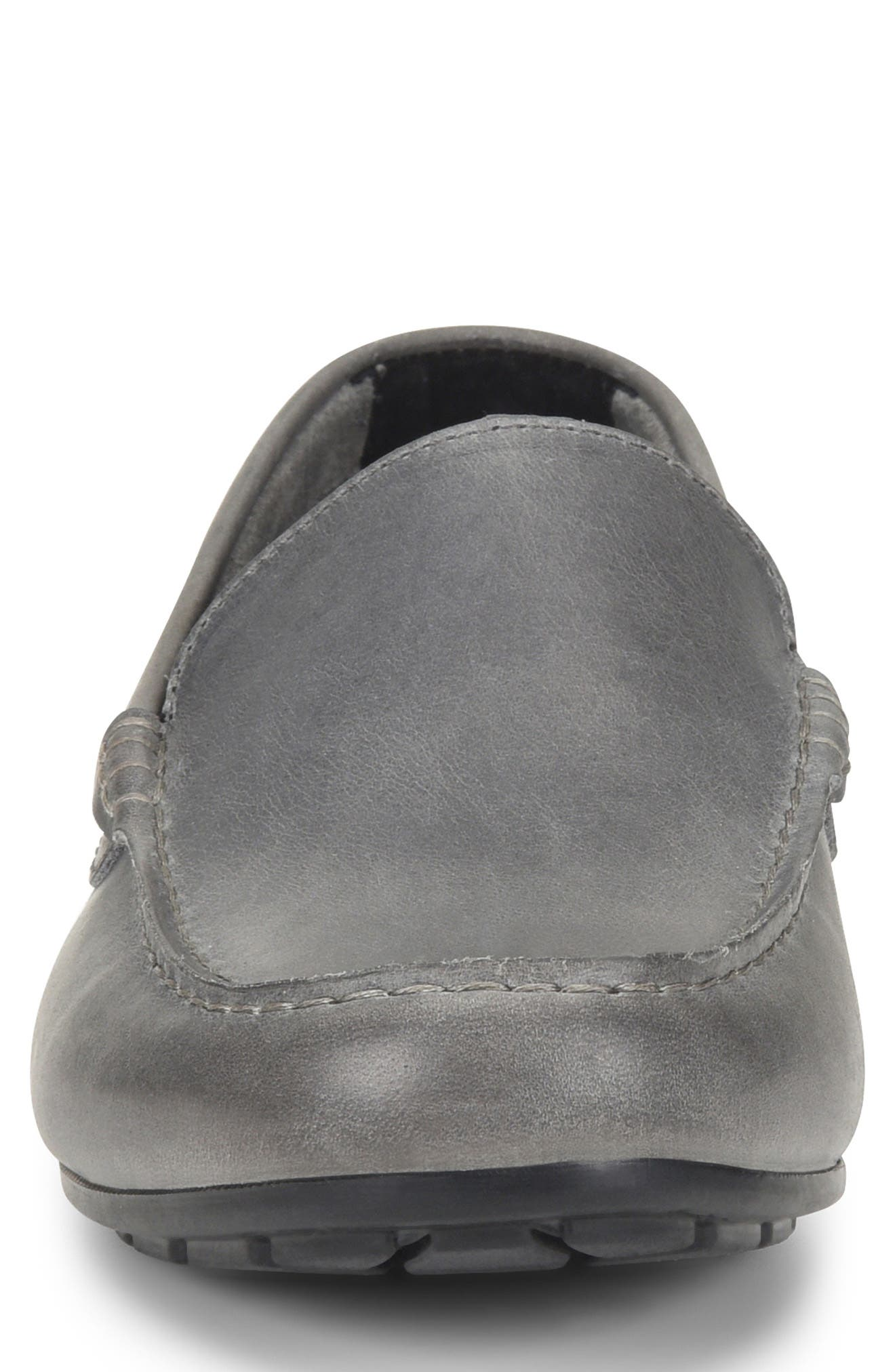 'Allan' Slip-On,                             Alternate thumbnail 4, color,                             GREY LEATHER