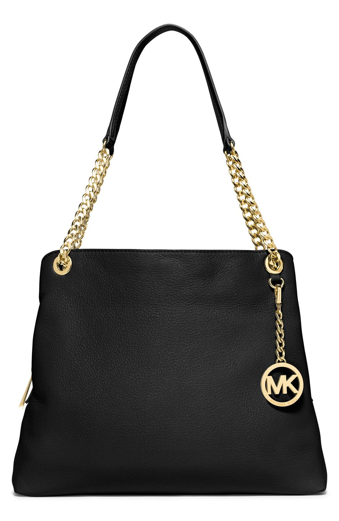 MICHAEL MICHAEL KORS 'Jet Set' Chain Leather Shoulder Bag, Main, color, 001