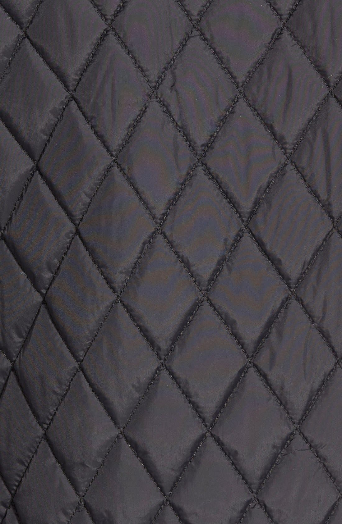 Quilted Moto Jacket,                             Alternate thumbnail 10, color,                             BLACK