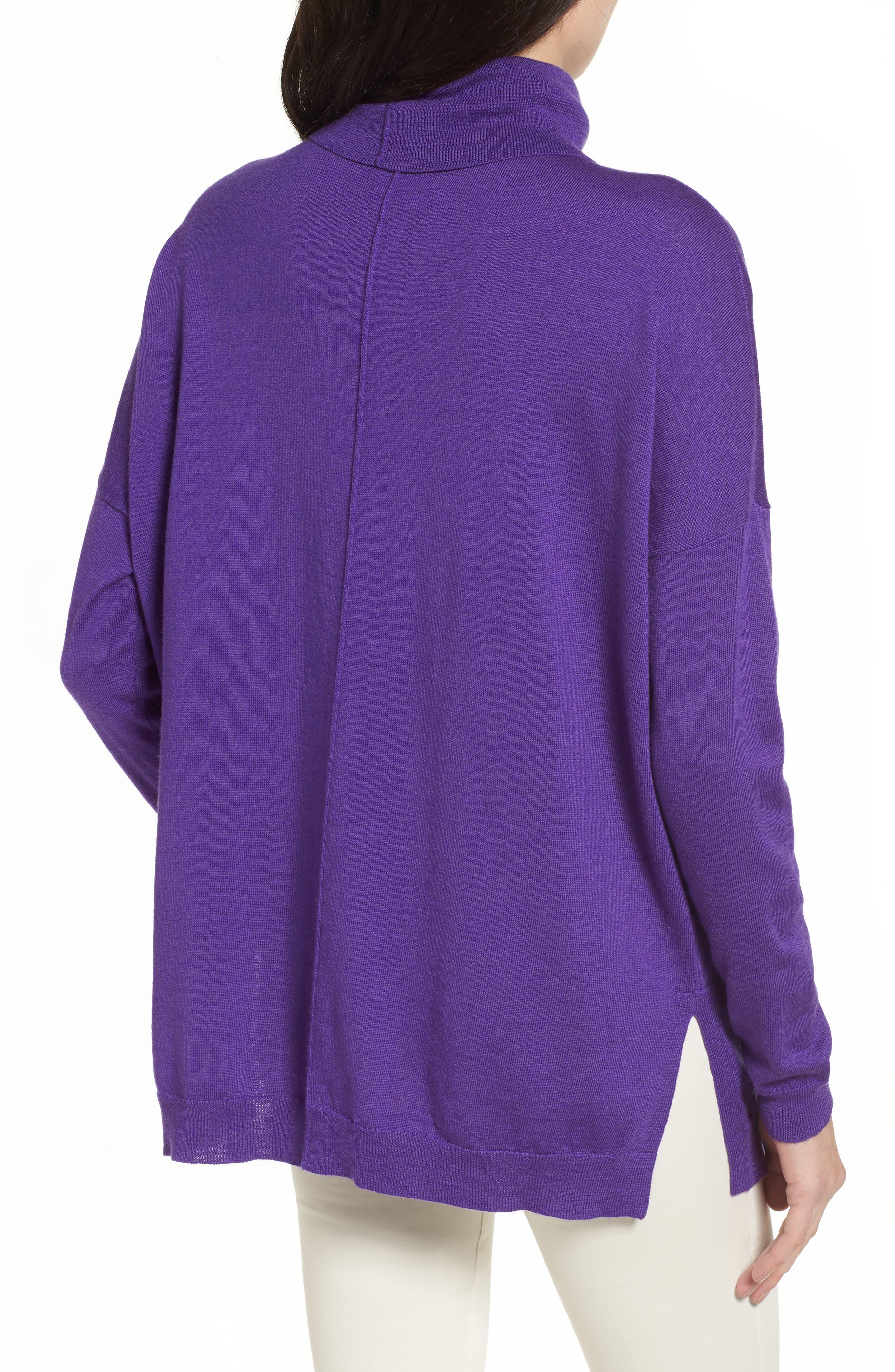 Merino Wool Boxy Turtleneck Sweater,                             Alternate thumbnail 11, color,