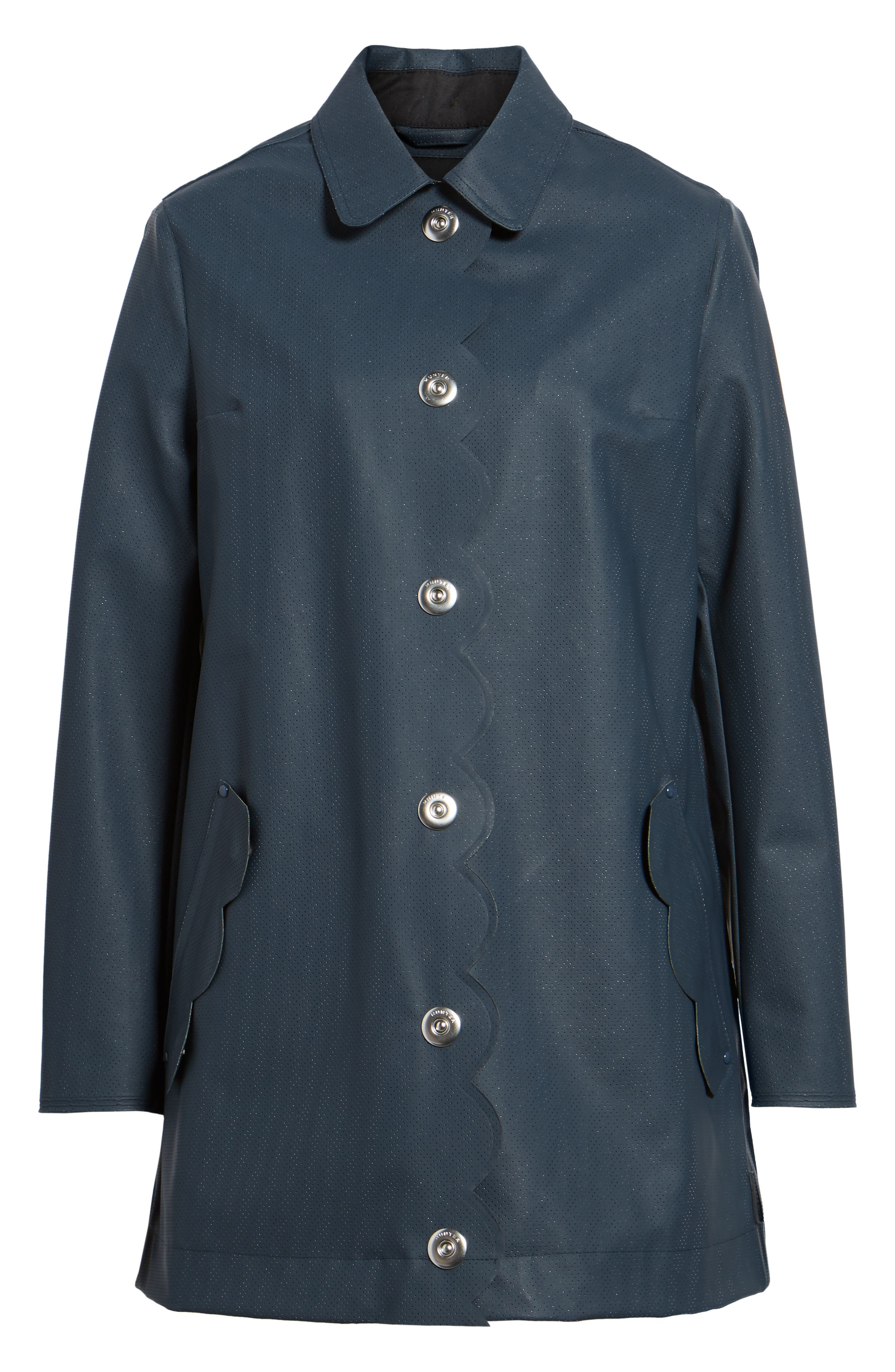 Refined Perforated A-Line Coat,                             Alternate thumbnail 5, color,                             410