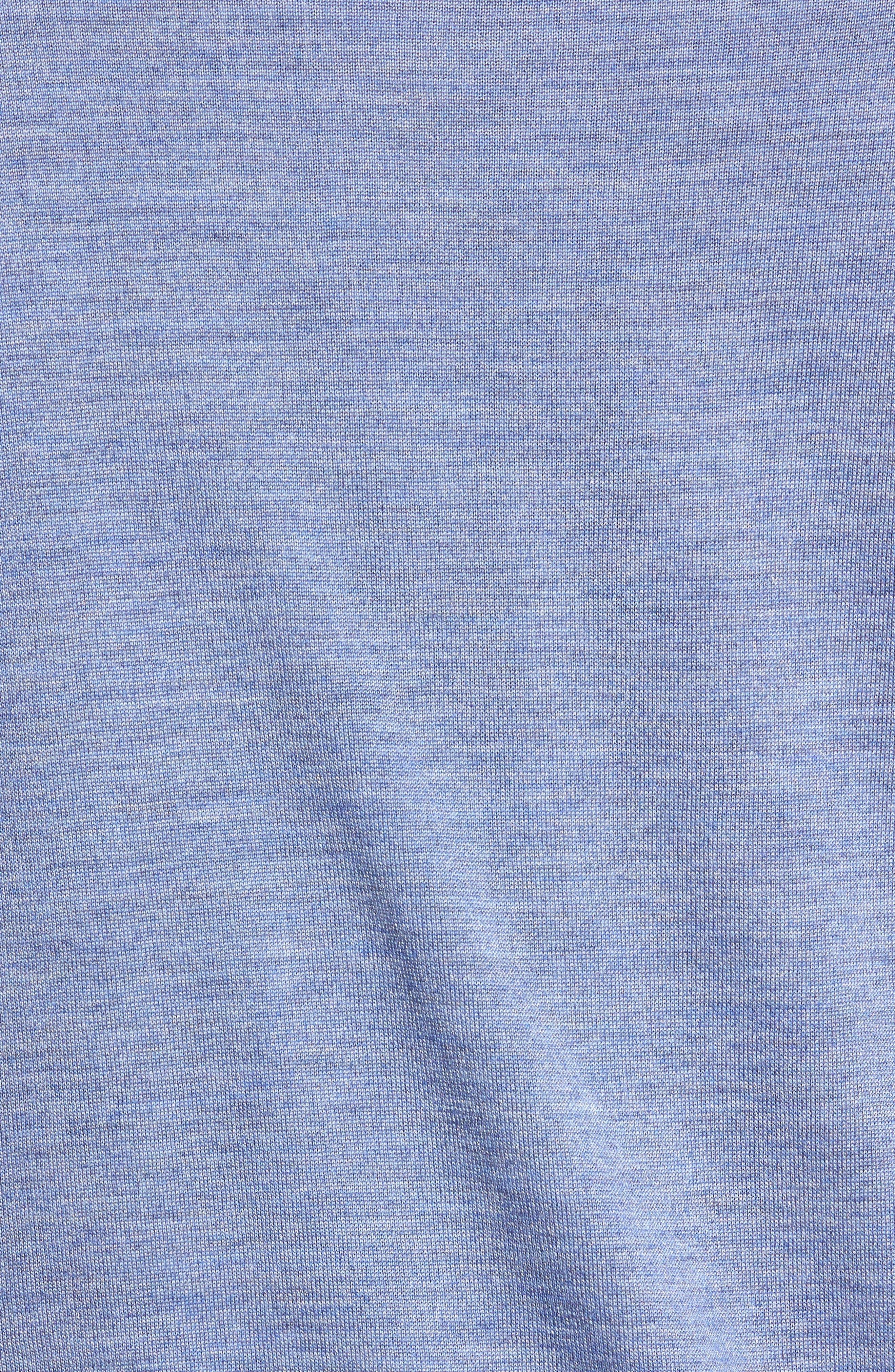 Merino Wool & Silk V-Neck Sweater,                             Alternate thumbnail 5, color,                             439