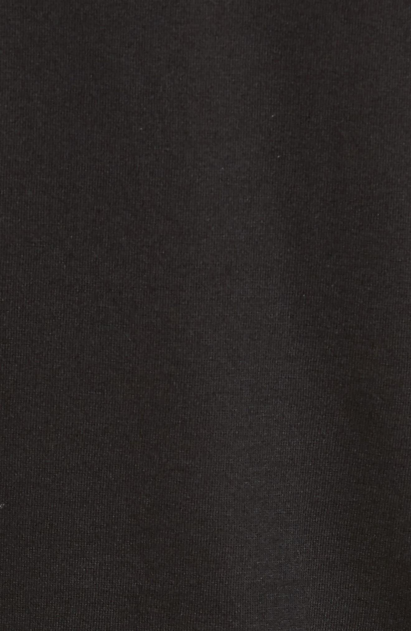 Faux Wrap Bodysuit,                             Alternate thumbnail 5, color,                             001