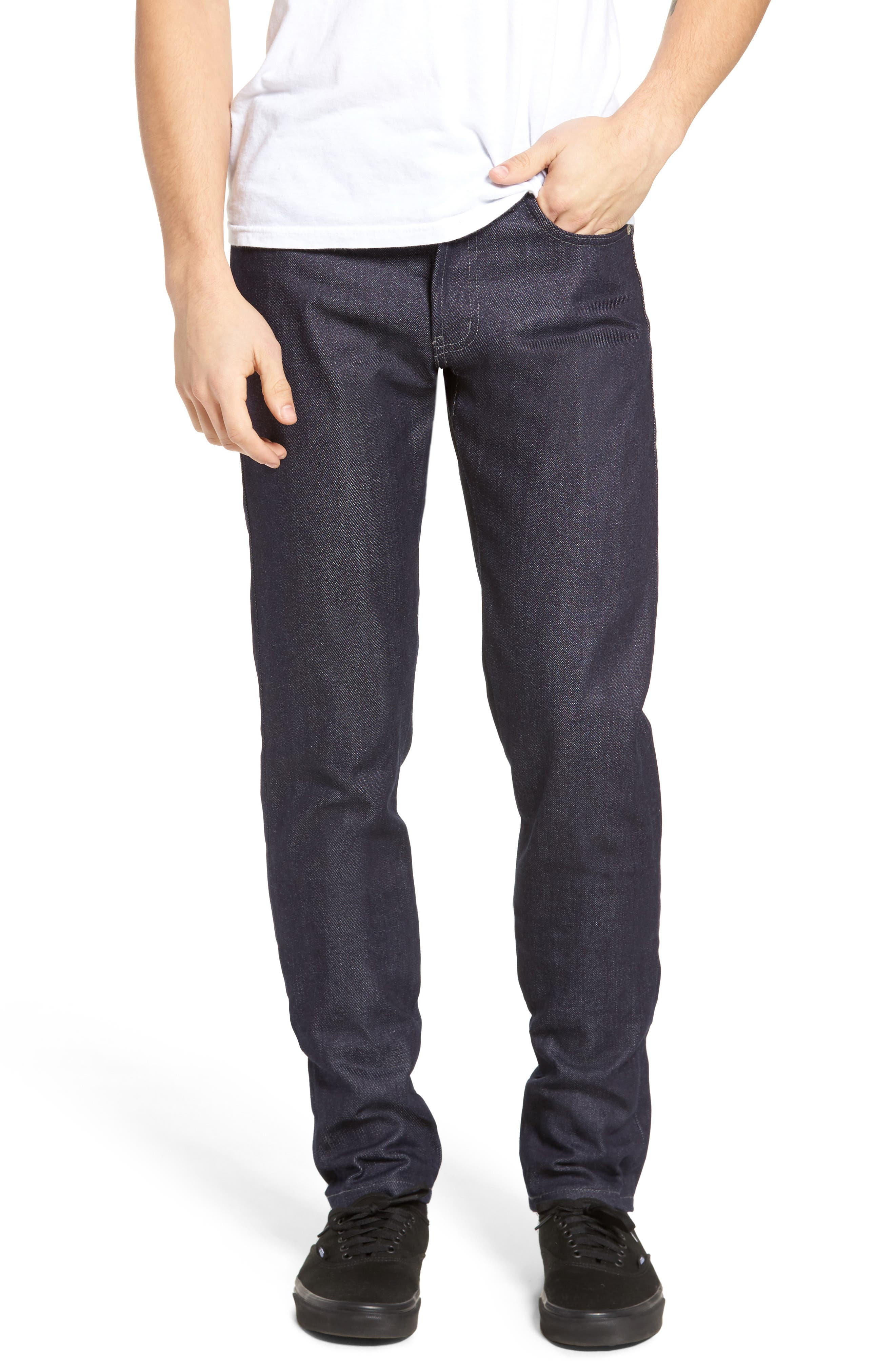 Naked & Famous Super Skinny Guy Skinny Fit Jeans,                         Main,                         color, INDIGO