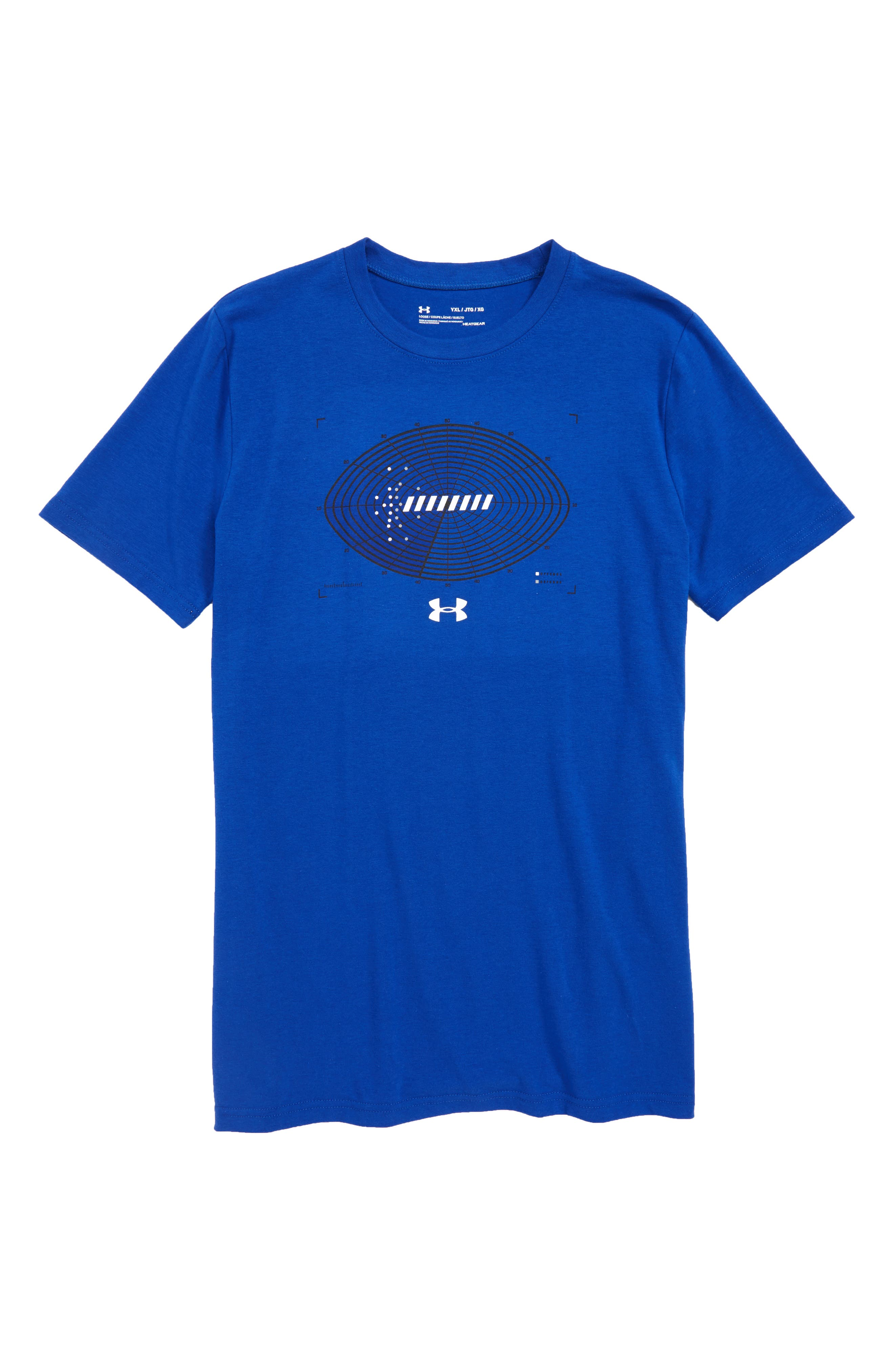 Aerial Football HeatGear<sup>®</sup> Charged Cotton<sup>®</sup> T-Shirt,                         Main,                         color, 400