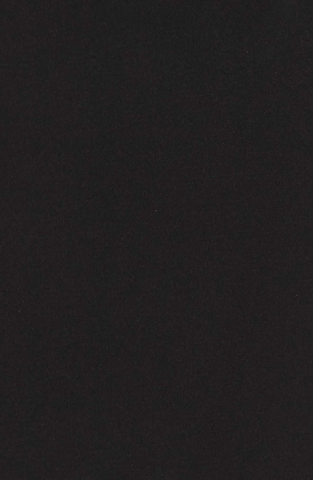 Noir Indure Lace Hem Off the Shoulder Dress,                             Alternate thumbnail 5, color,                             001