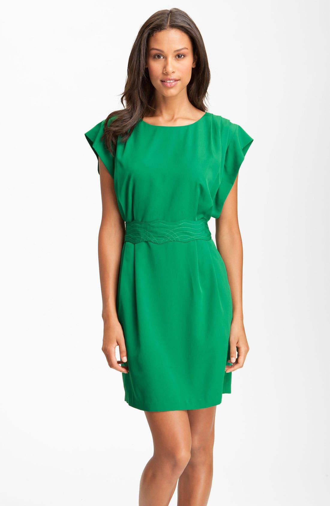 Drape Sleeve Sash Belt Dress,                             Main thumbnail 1, color,                             310
