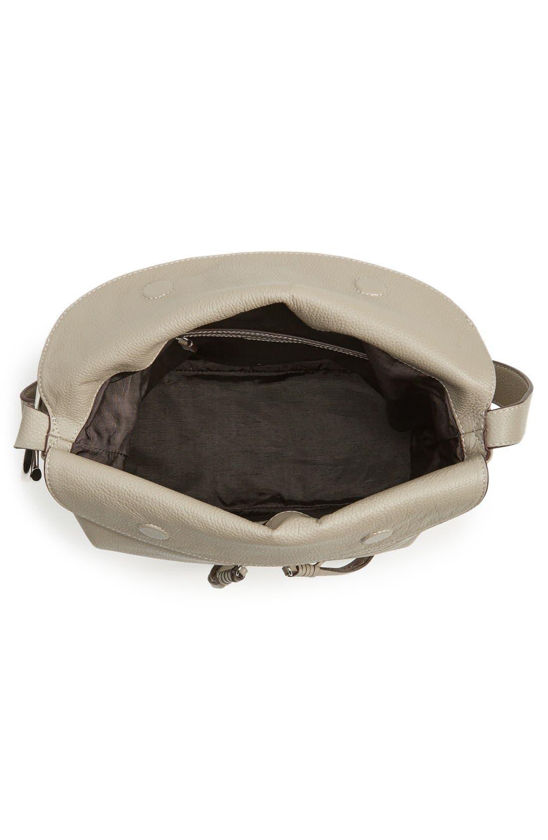 Finley Leather Hobo Bag,                             Alternate thumbnail 12, color,