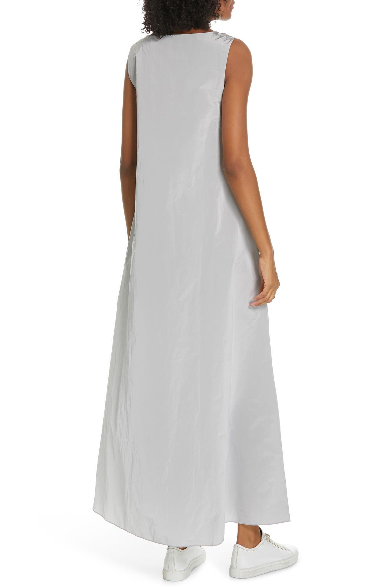 Sleeveless A-Line Maxi Dress,                             Alternate thumbnail 2, color,                             SILVER ICE