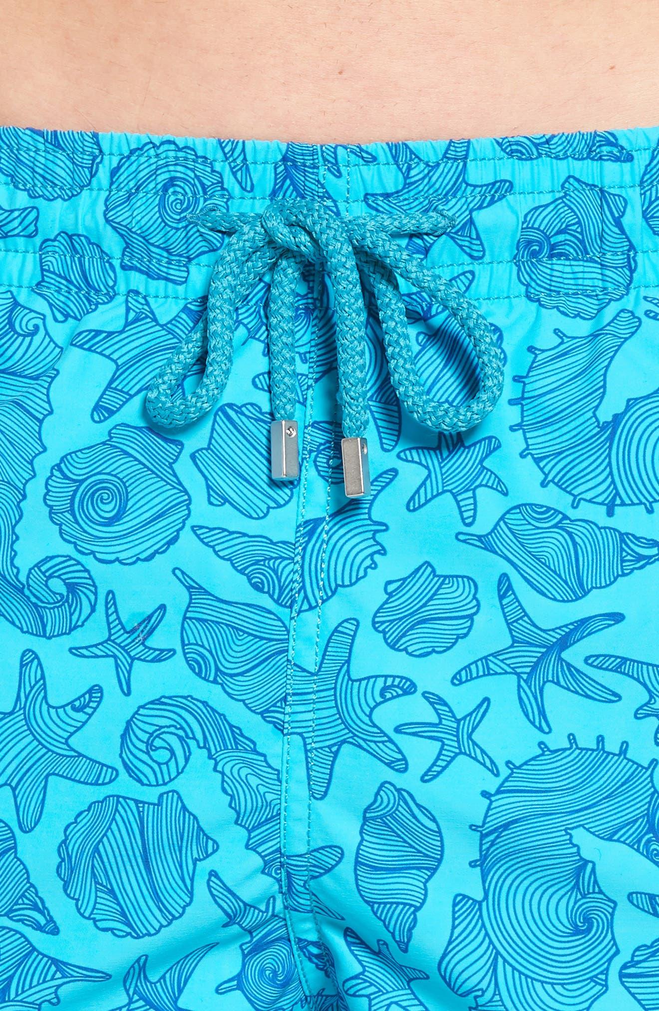 Seahorse Print Swim Trunks,                             Alternate thumbnail 4, color,                             432