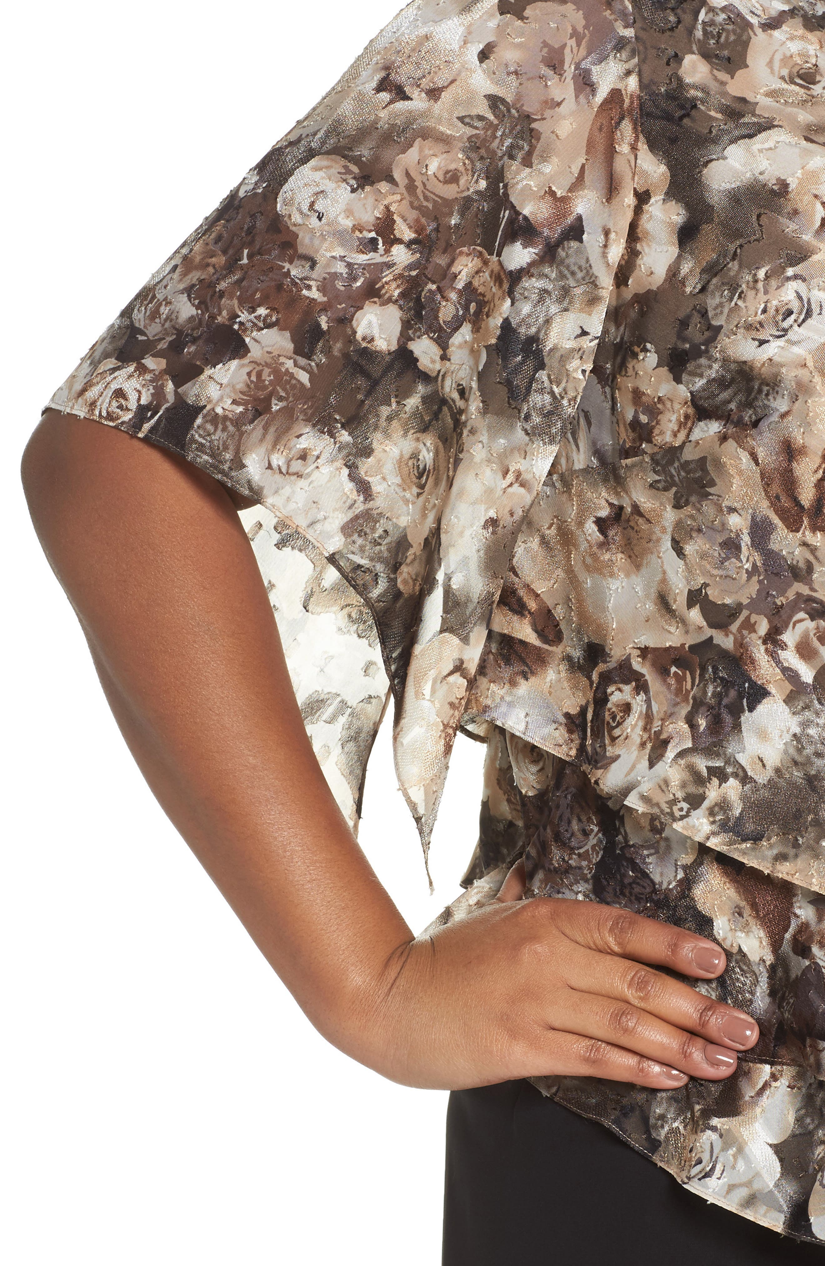 Tiered Chiffon Top,                             Alternate thumbnail 4, color,                             266
