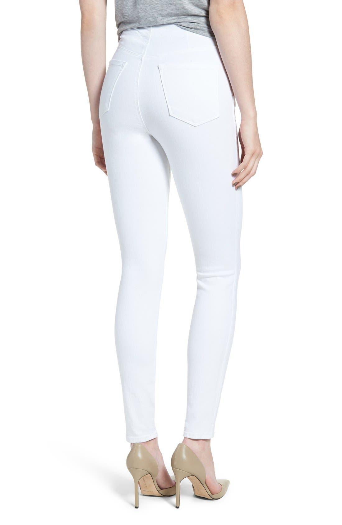 'Natasha Sky High' High Rise Skinny Jeans,                             Alternate thumbnail 5, color,                             100