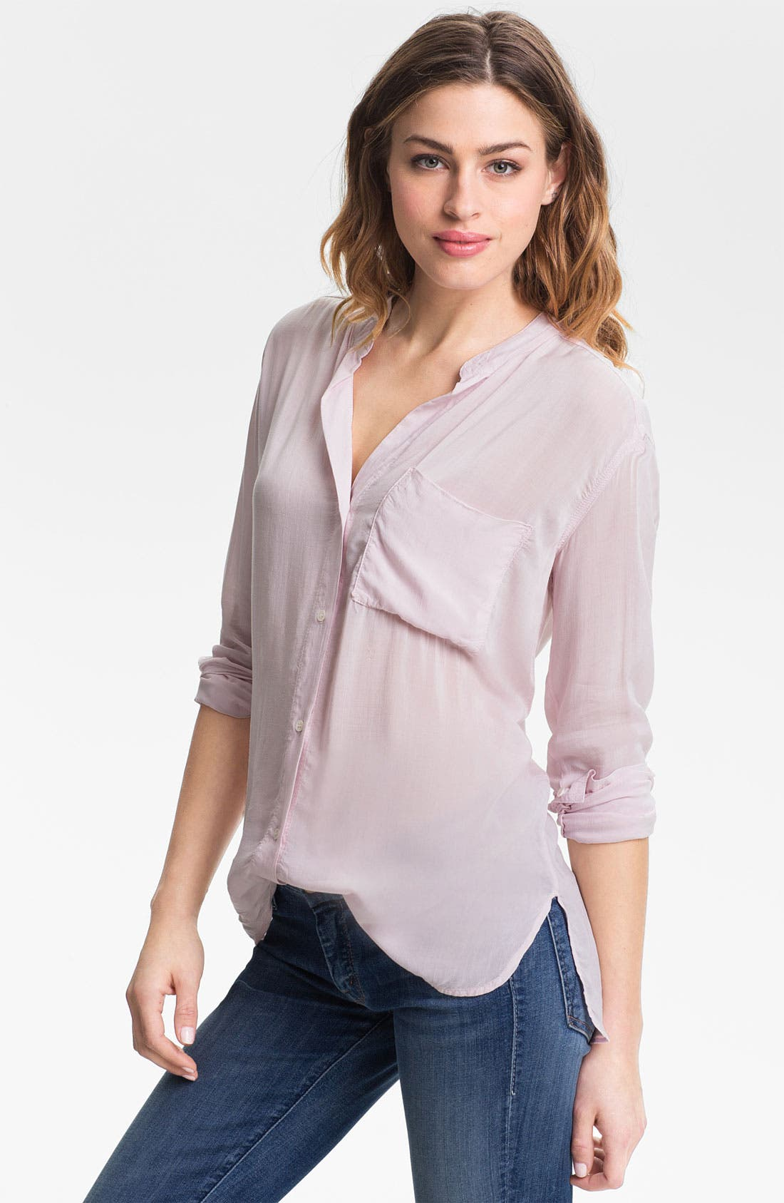 Collarless Pocket Shirt,                             Main thumbnail 3, color,