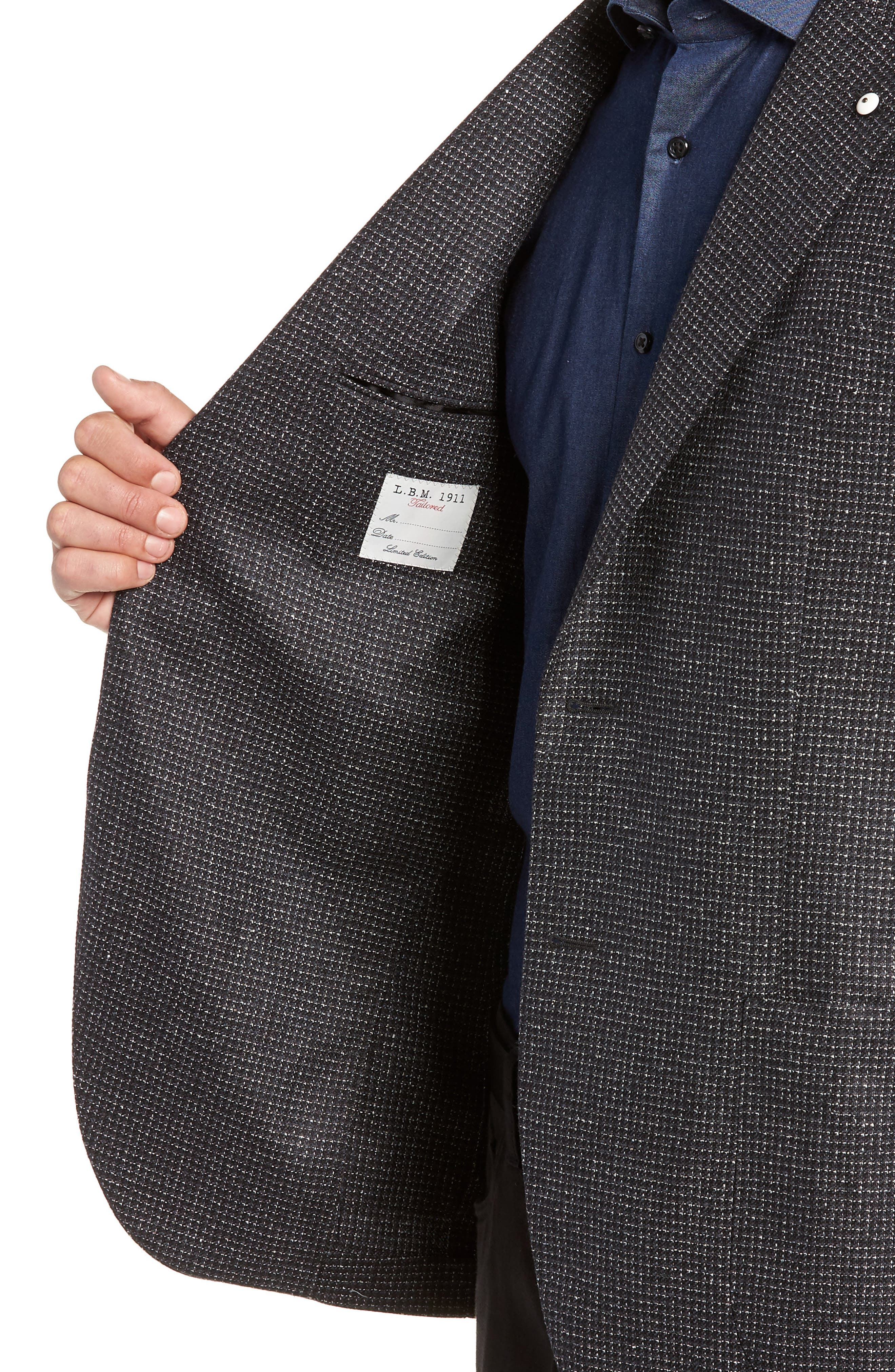 L.B.M 1911 Classic Fit Silk & Wool Sport Coat,                             Alternate thumbnail 4, color,                             BLACK