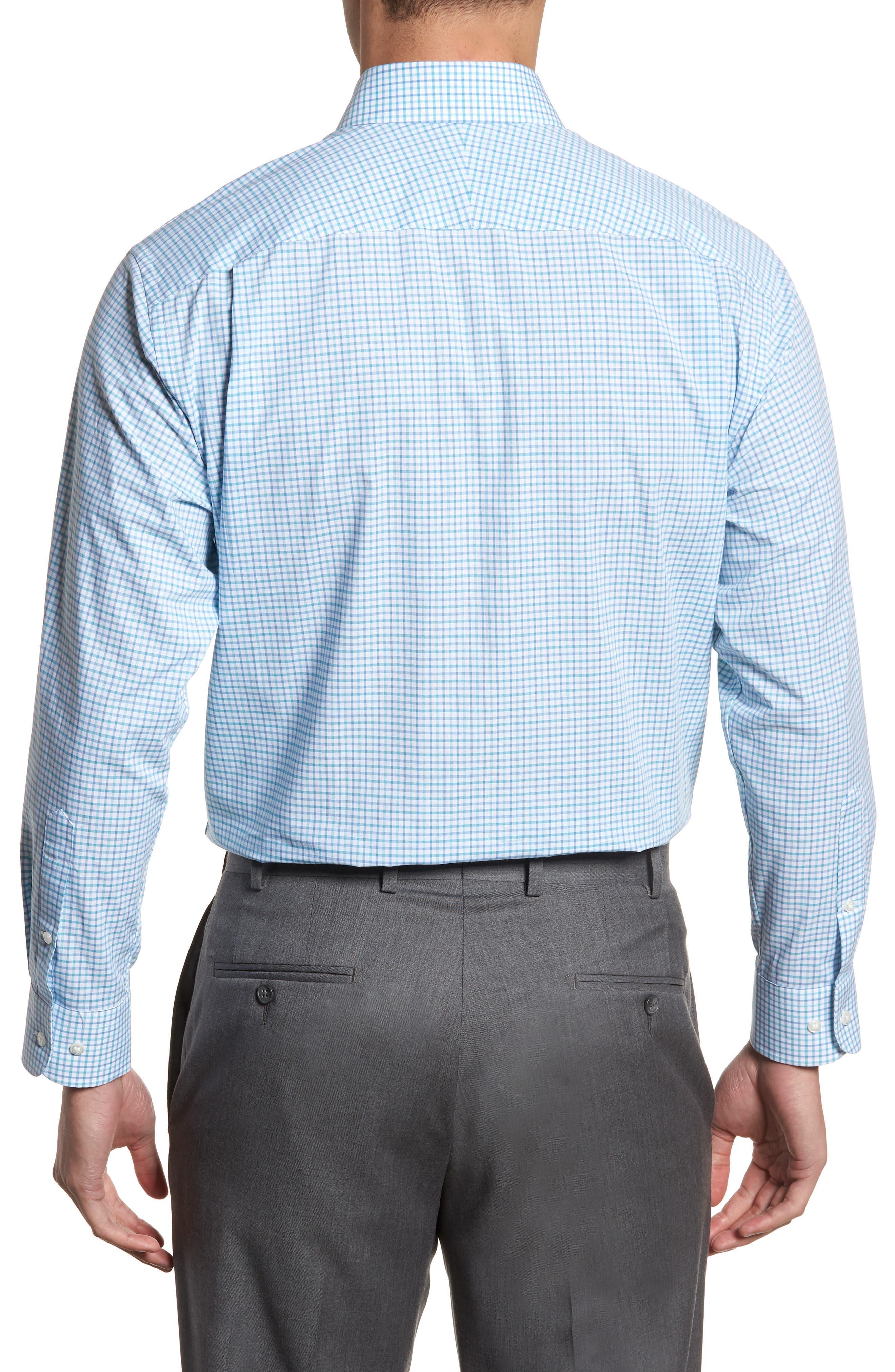 Classic Fit Check Dress Shirt,                             Alternate thumbnail 11, color,