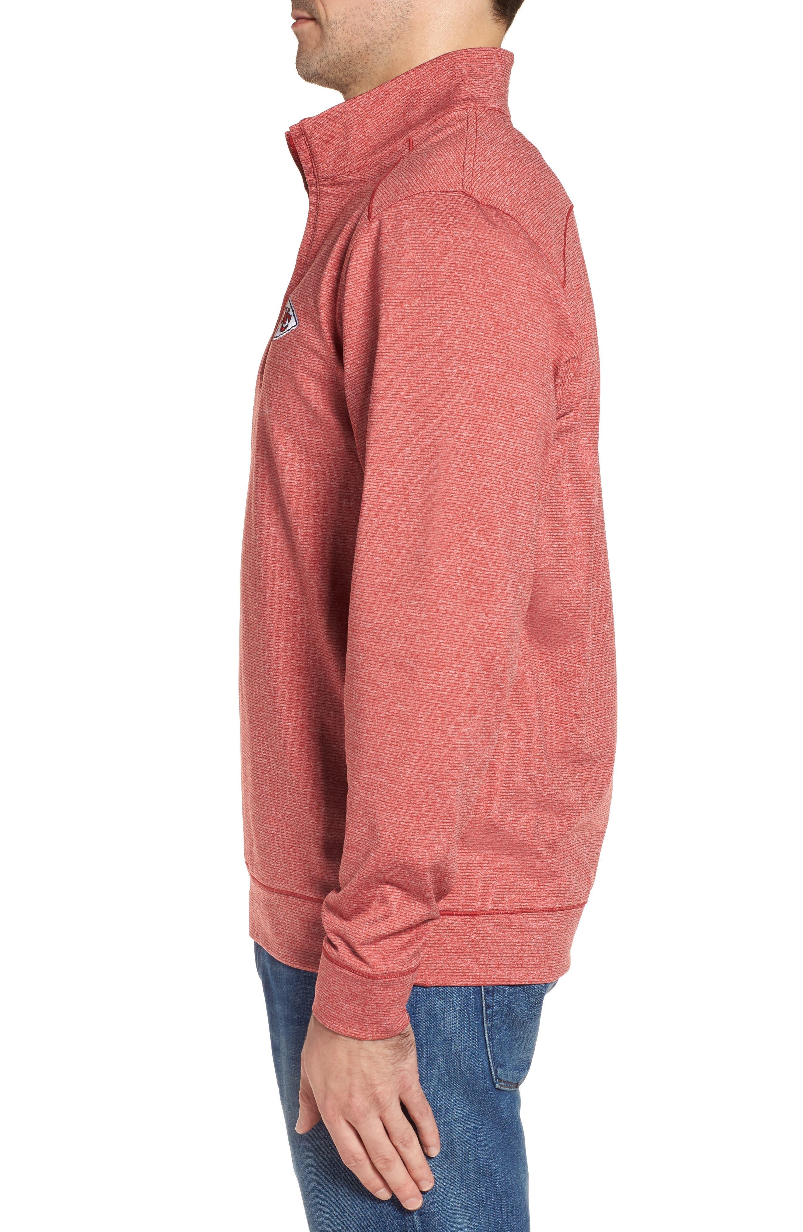 Shoreline - Kansas City Chiefs Half Zip Pullover,                             Alternate thumbnail 3, color,                             615