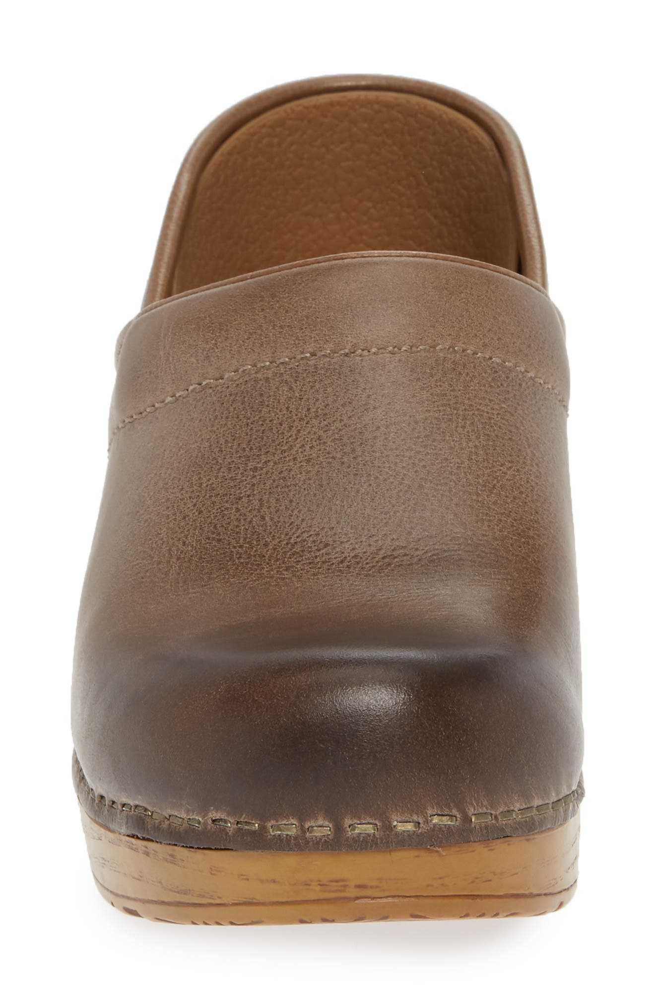 'Professional' Clog,                             Alternate thumbnail 4, color,                             STONE LEATHER