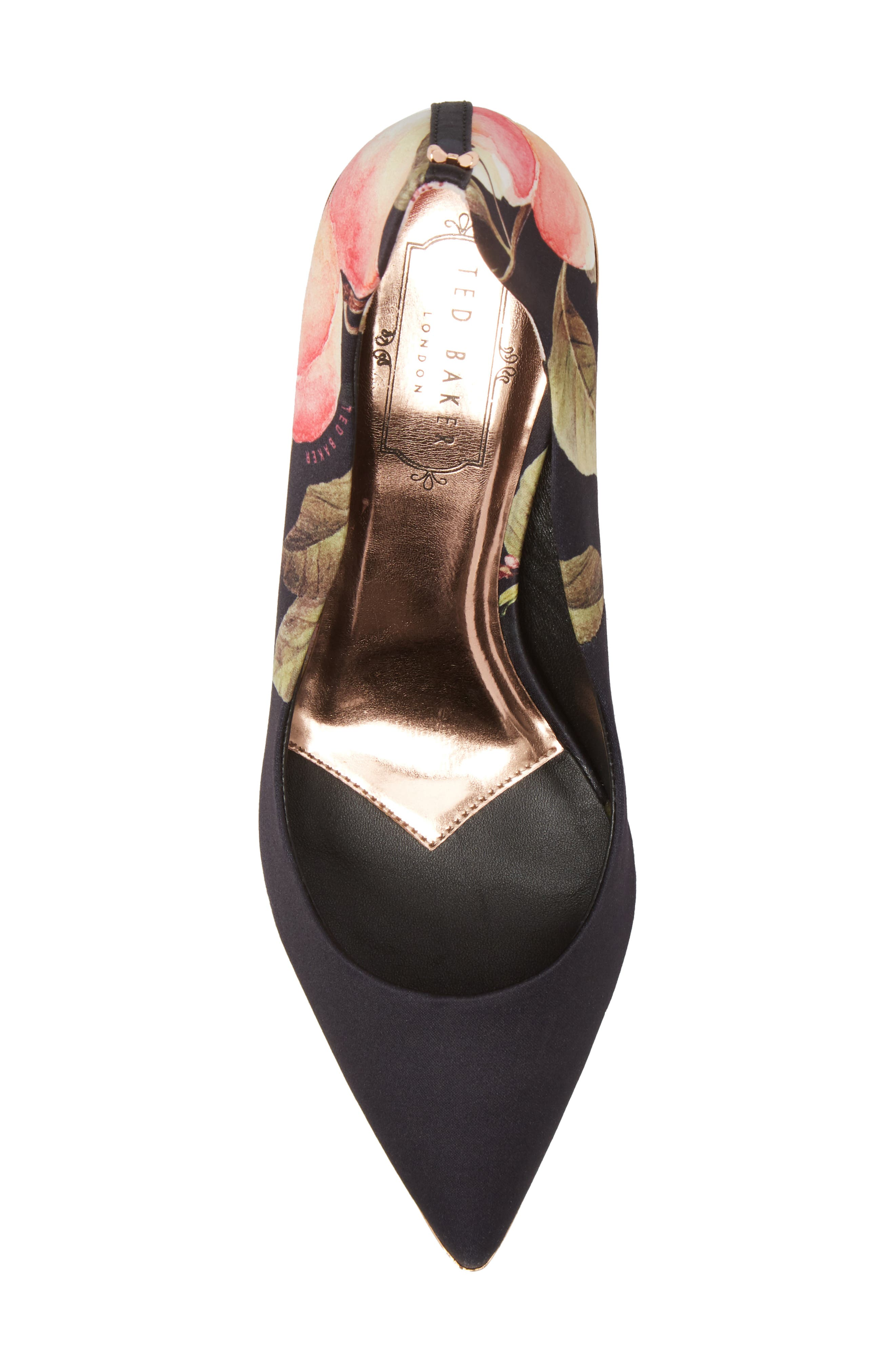 TED BAKER LONDON,                             Pointy Toe Pump,                             Alternate thumbnail 5, color,                             001