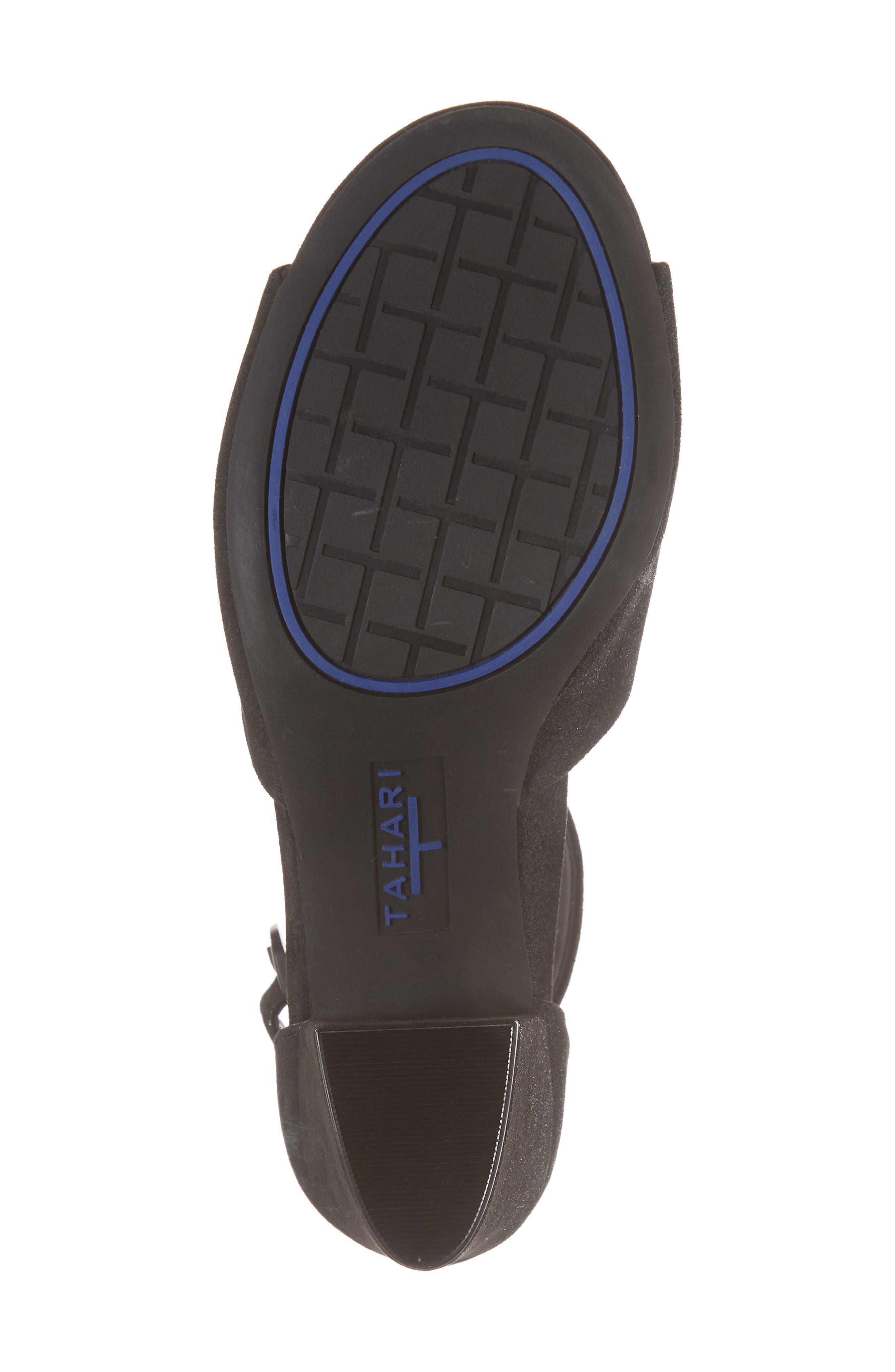 Piper Sandal,                             Alternate thumbnail 6, color,                             BLACK SUEDE