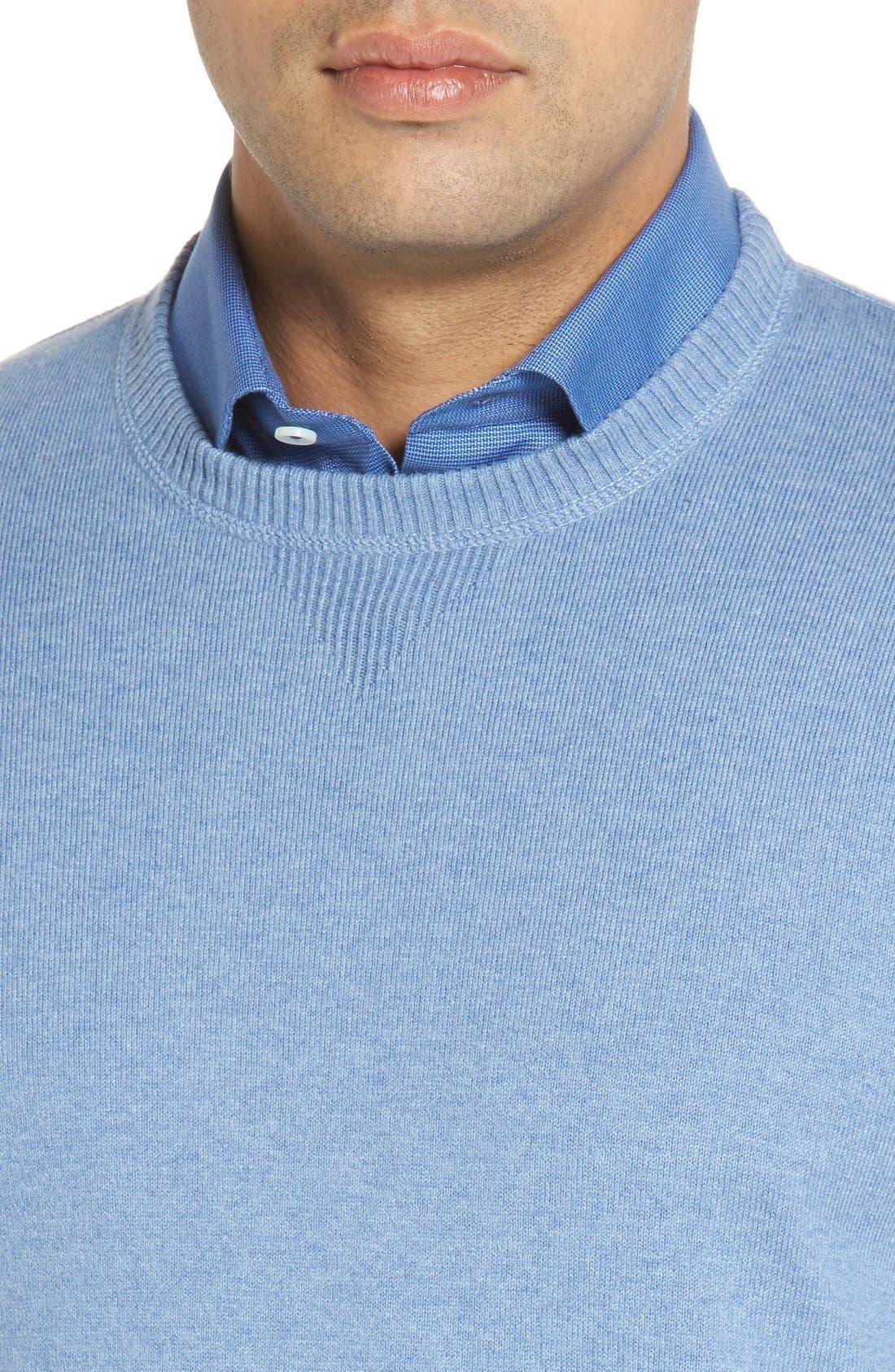 'Jersey Sport' Cotton Blend Crewneck Sweater,                             Alternate thumbnail 28, color,