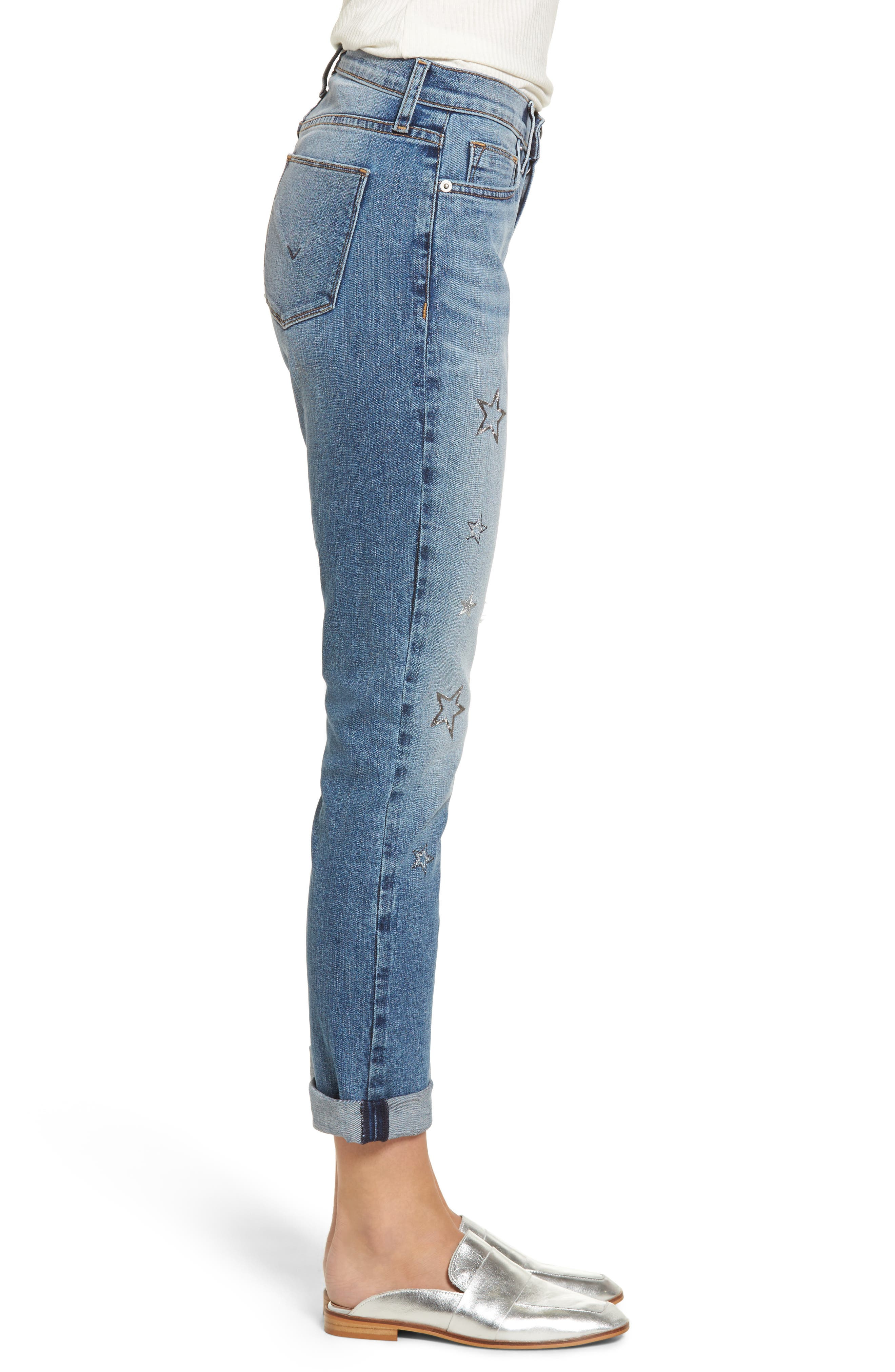 Crop Riley Relaxed Straight Leg Jeans,                             Alternate thumbnail 3, color,                             402