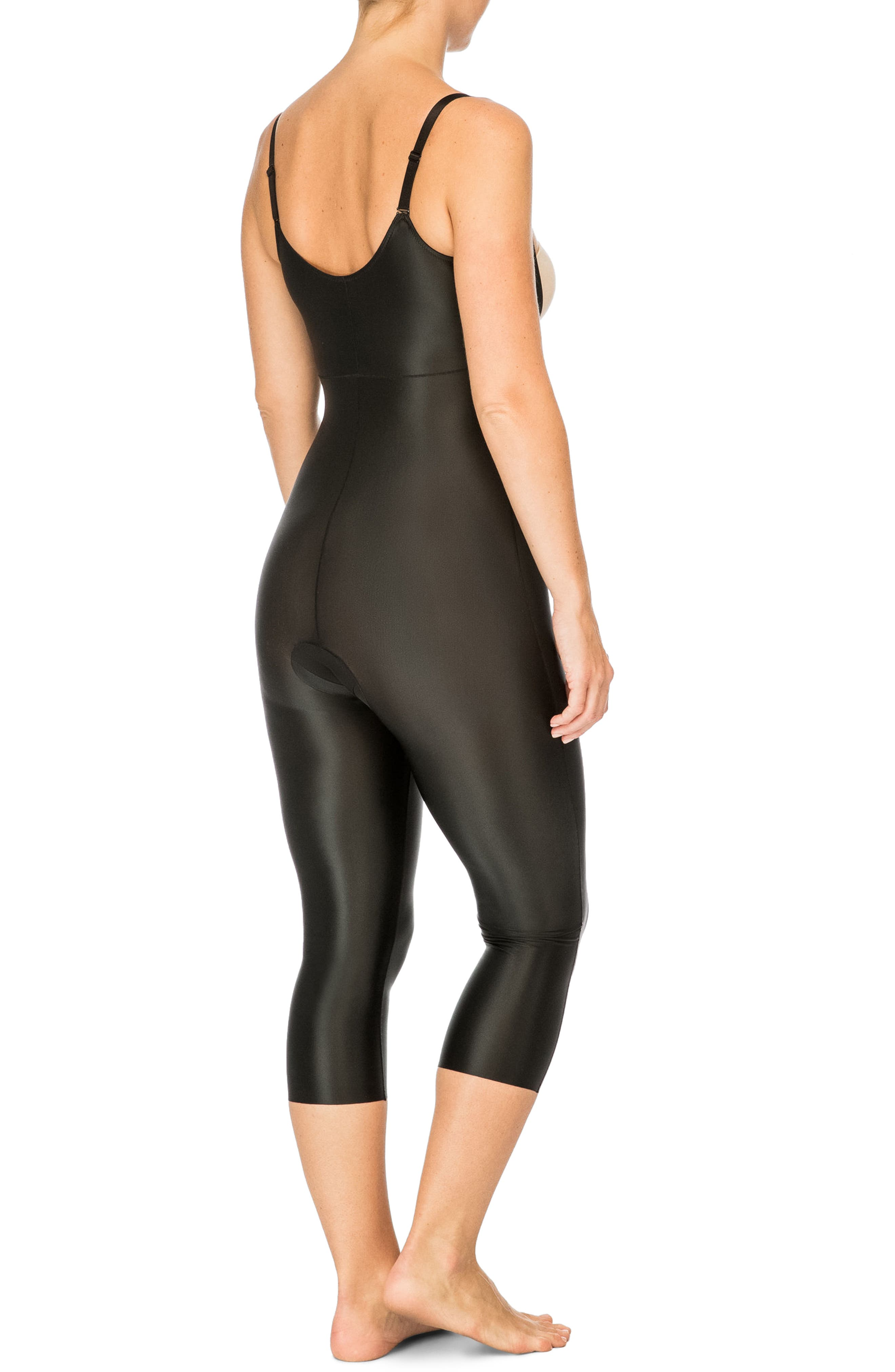 SPANX<SUP>®</SUP>,                             Suit Your Fancy Open-Bust Shaper Catsuit,                             Alternate thumbnail 2, color,                             VERY BLACK