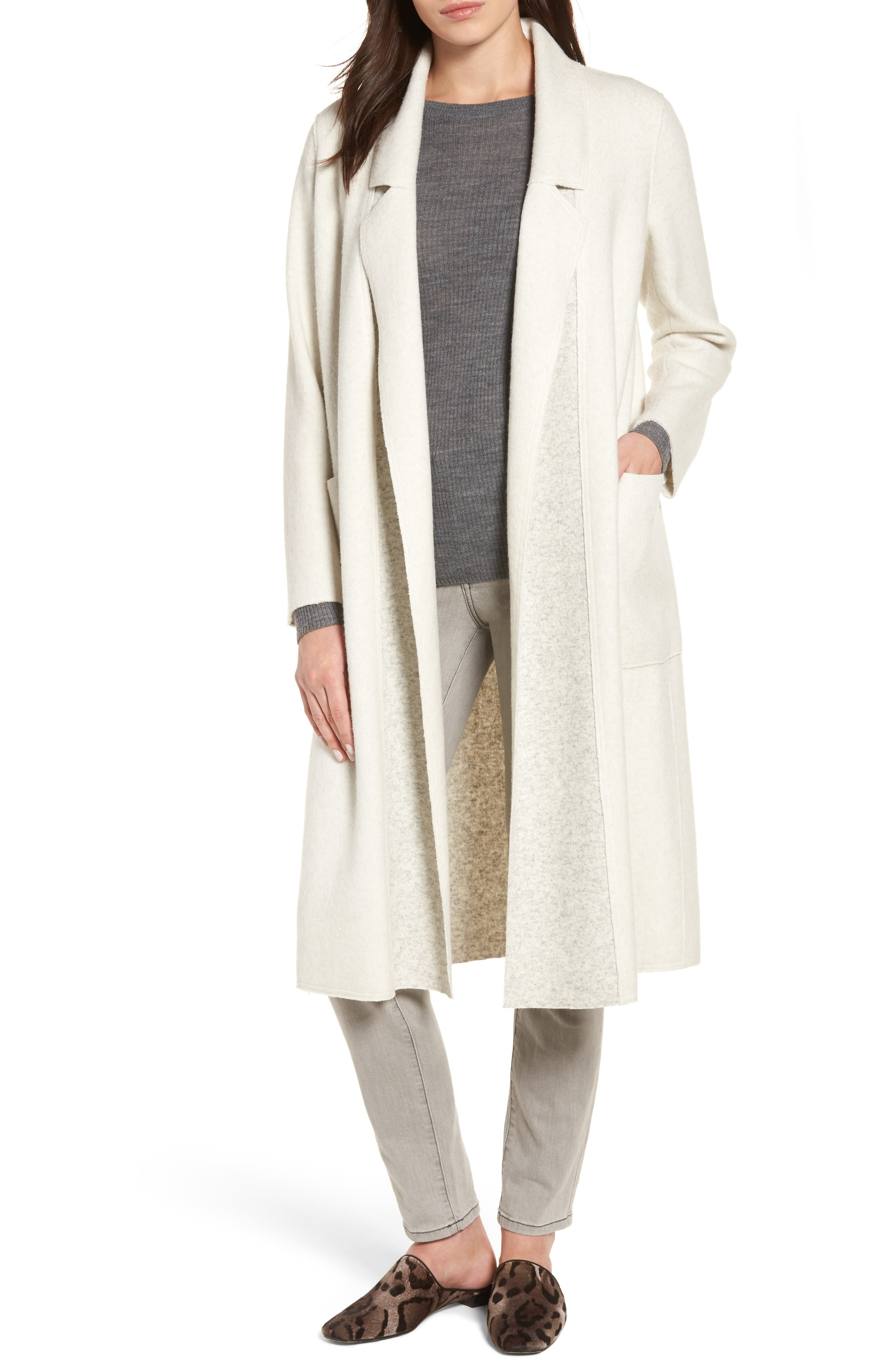 Brushed Duster Coat,                         Main,                         color, 180