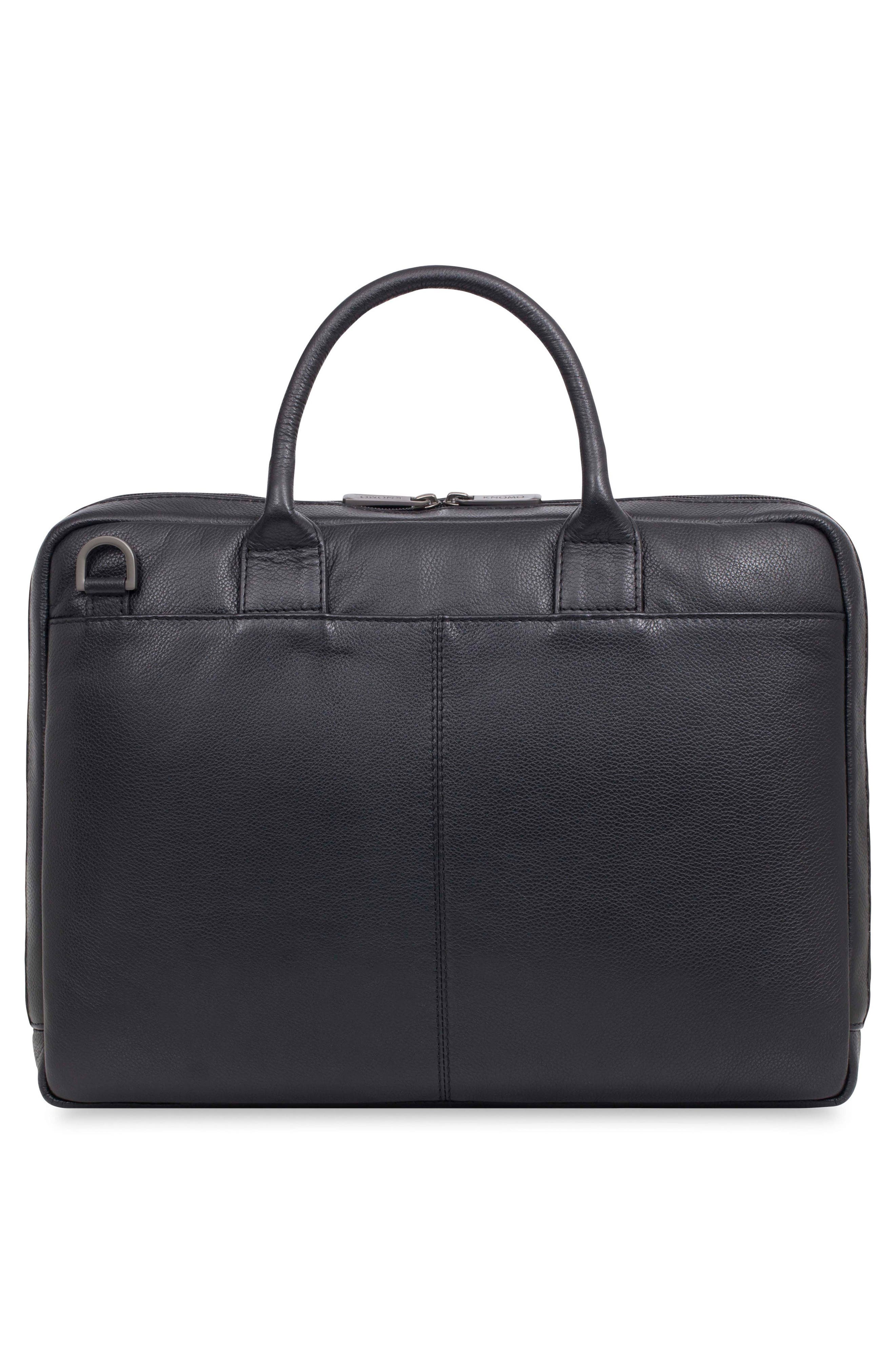 Barbican Foster Leather Briefcase,                             Alternate thumbnail 2, color,                             BLACK