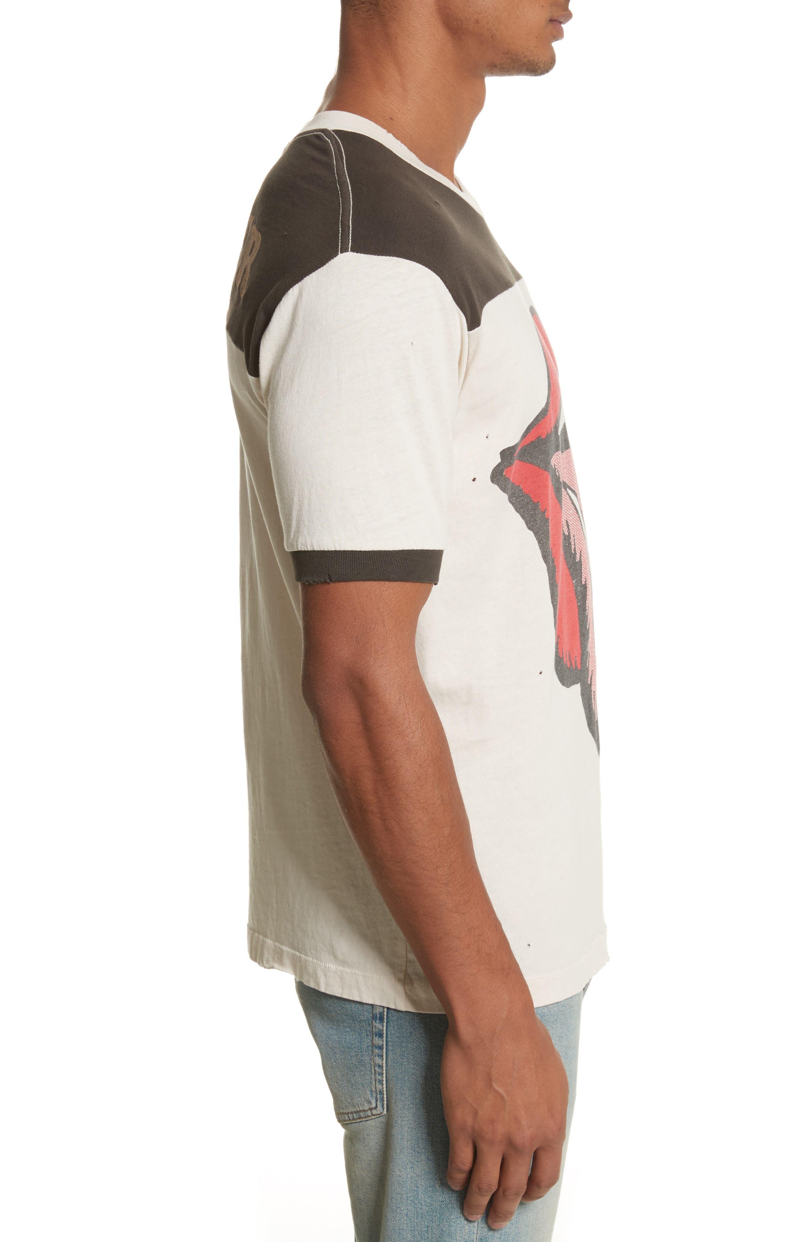 Rolling Stones T-Shirt,                             Alternate thumbnail 3, color,                             WHITE/ BLACK