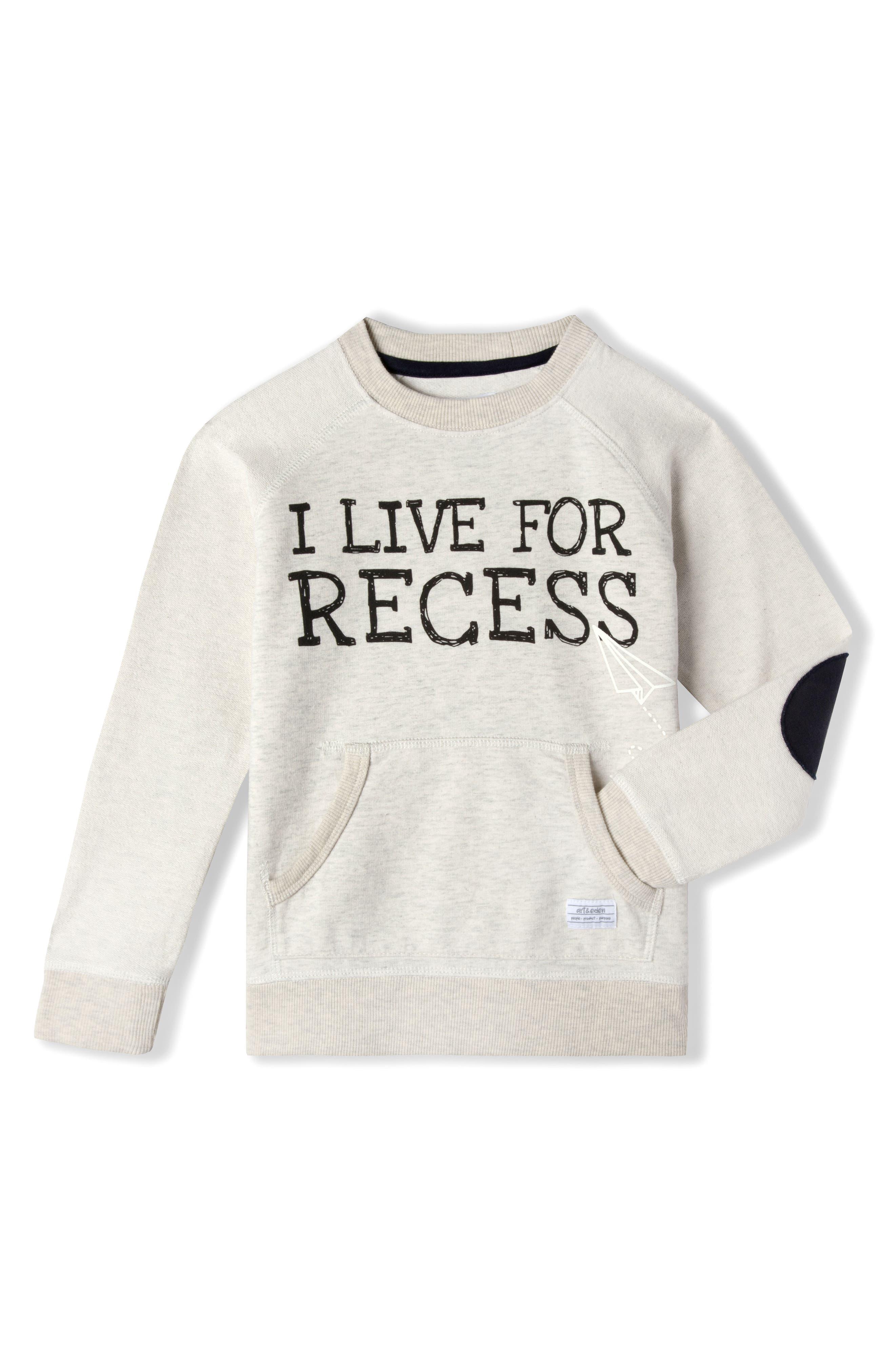 Recess Organic Cotton Sweatshirt,                             Main thumbnail 1, color,                             903