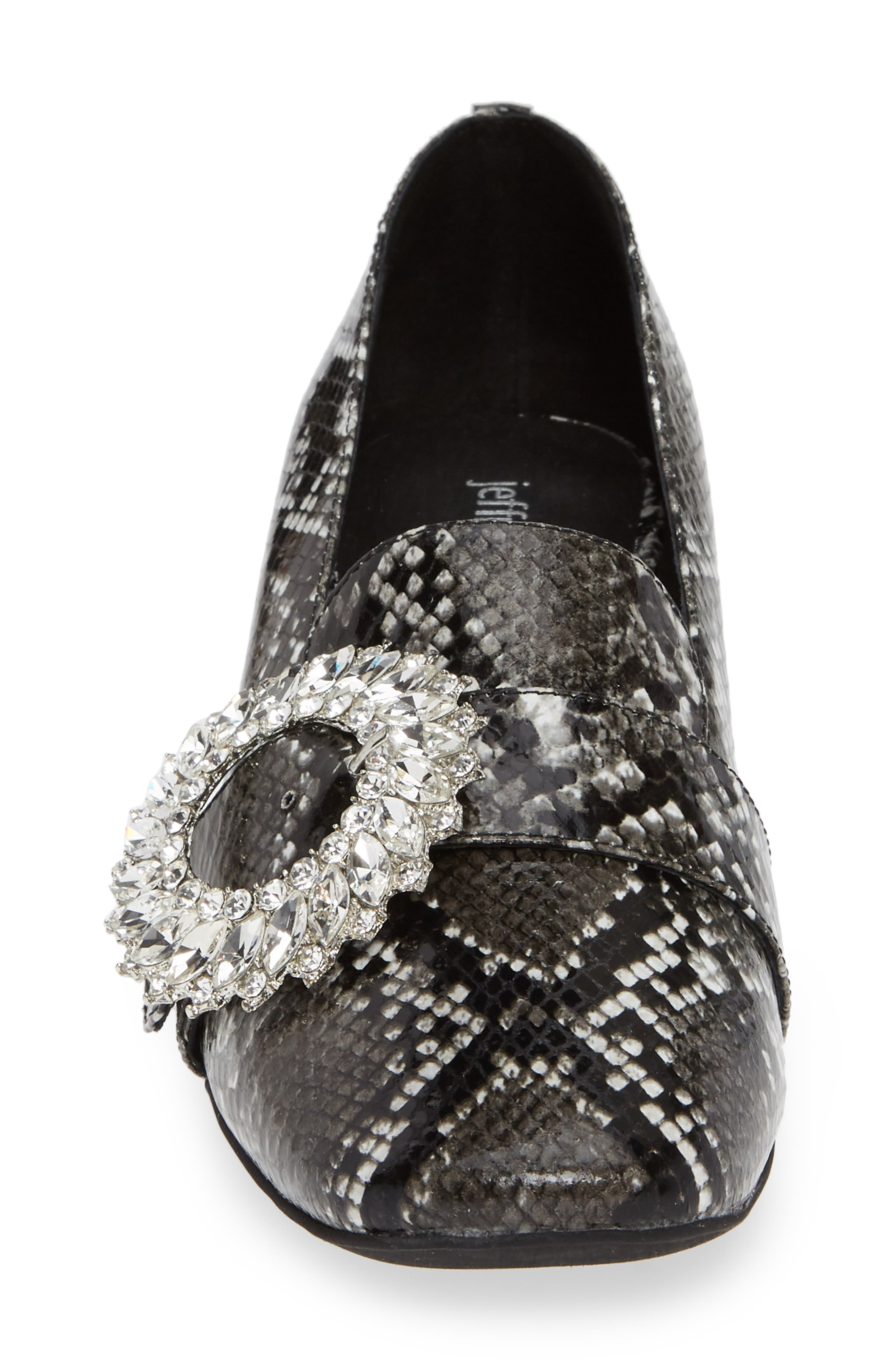 Louisa Pump,                             Alternate thumbnail 4, color,                             SNAKE PRINT LEATHER/ SILVER