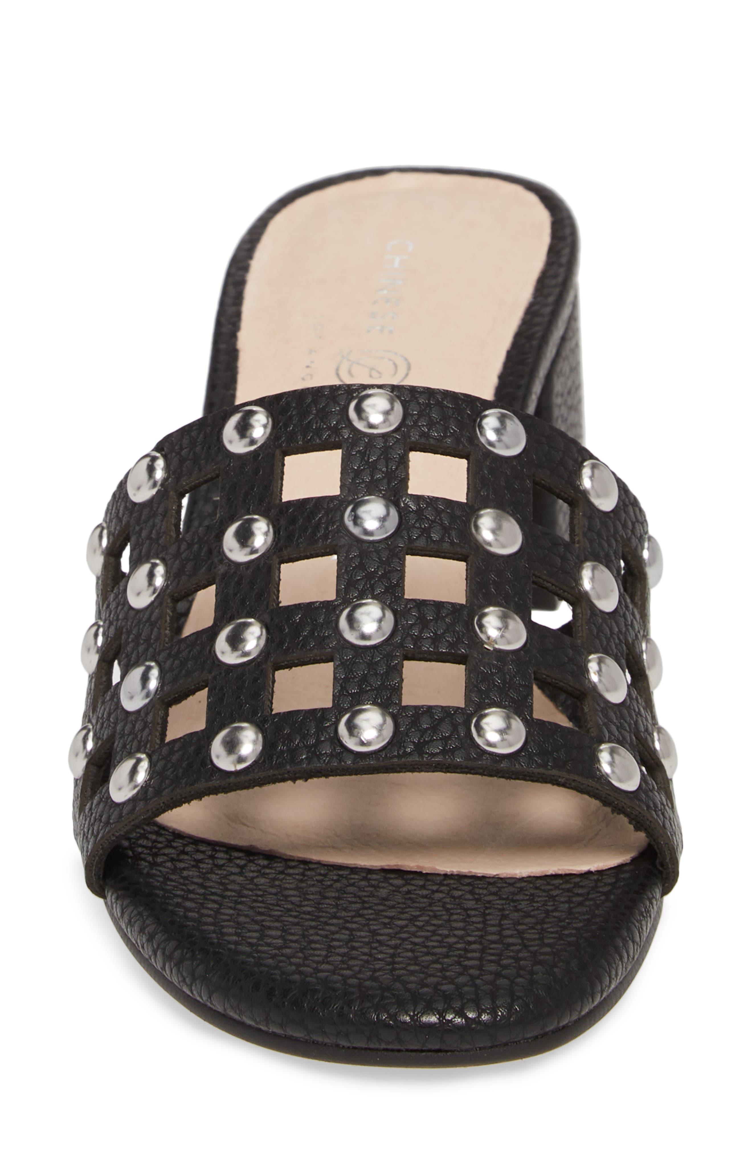 Megs Slide Sandal,                             Alternate thumbnail 4, color,                             BLACK