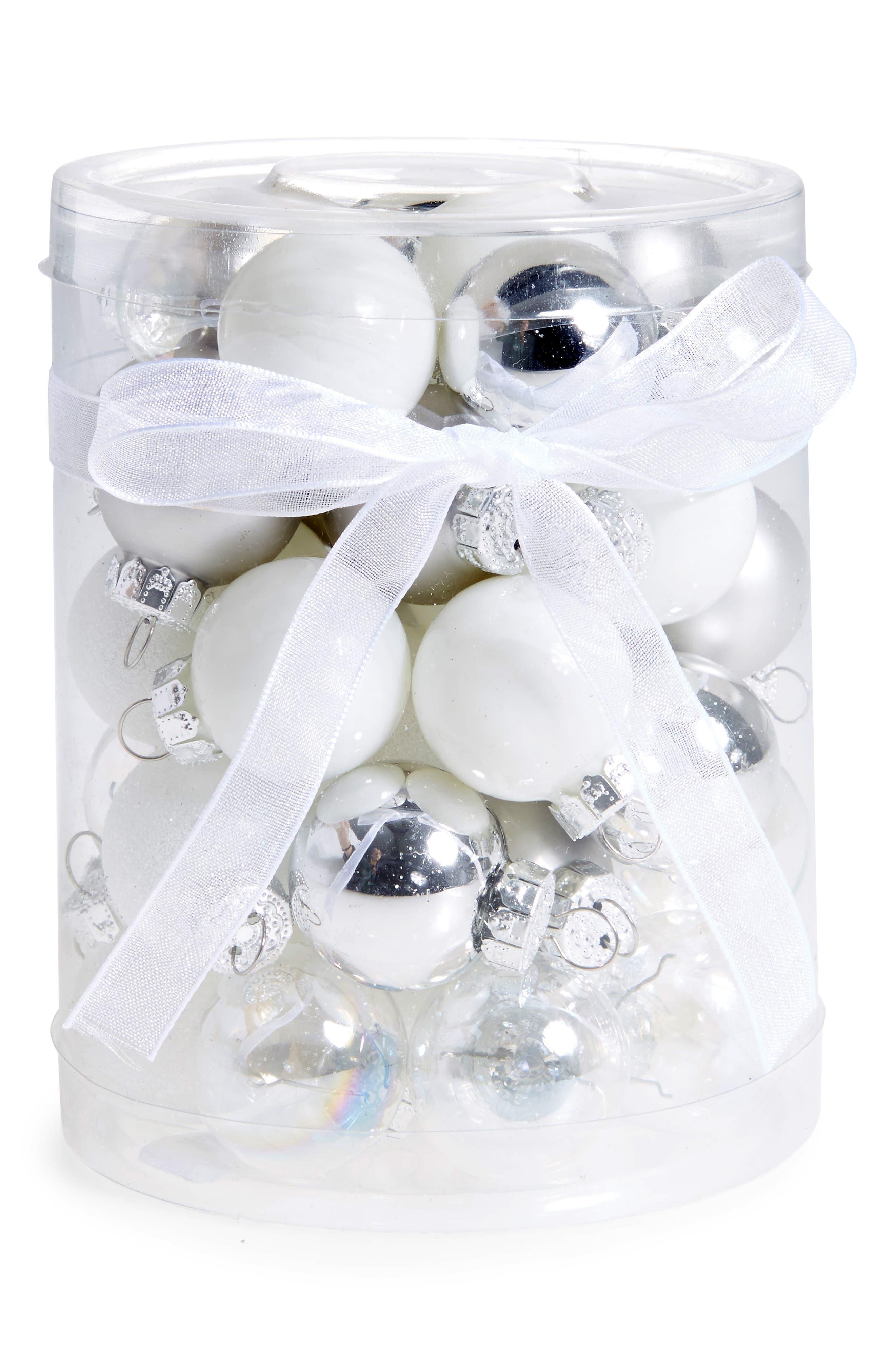 Kat & Annie Set of 40 Mini Ball Ornaments,                             Main thumbnail 1, color,                             040