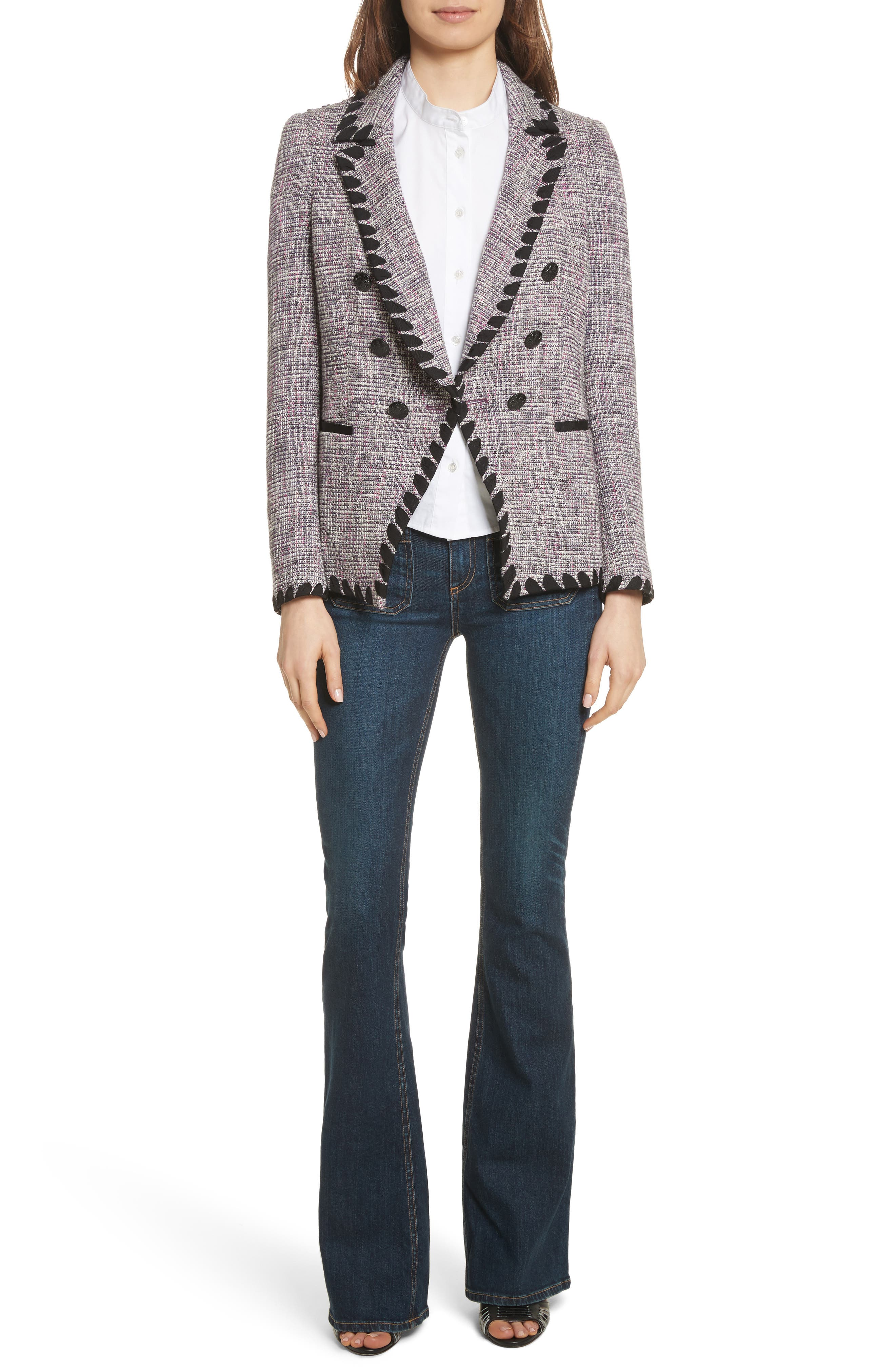 Octivia Tweed Blazer,                             Alternate thumbnail 7, color,                             655