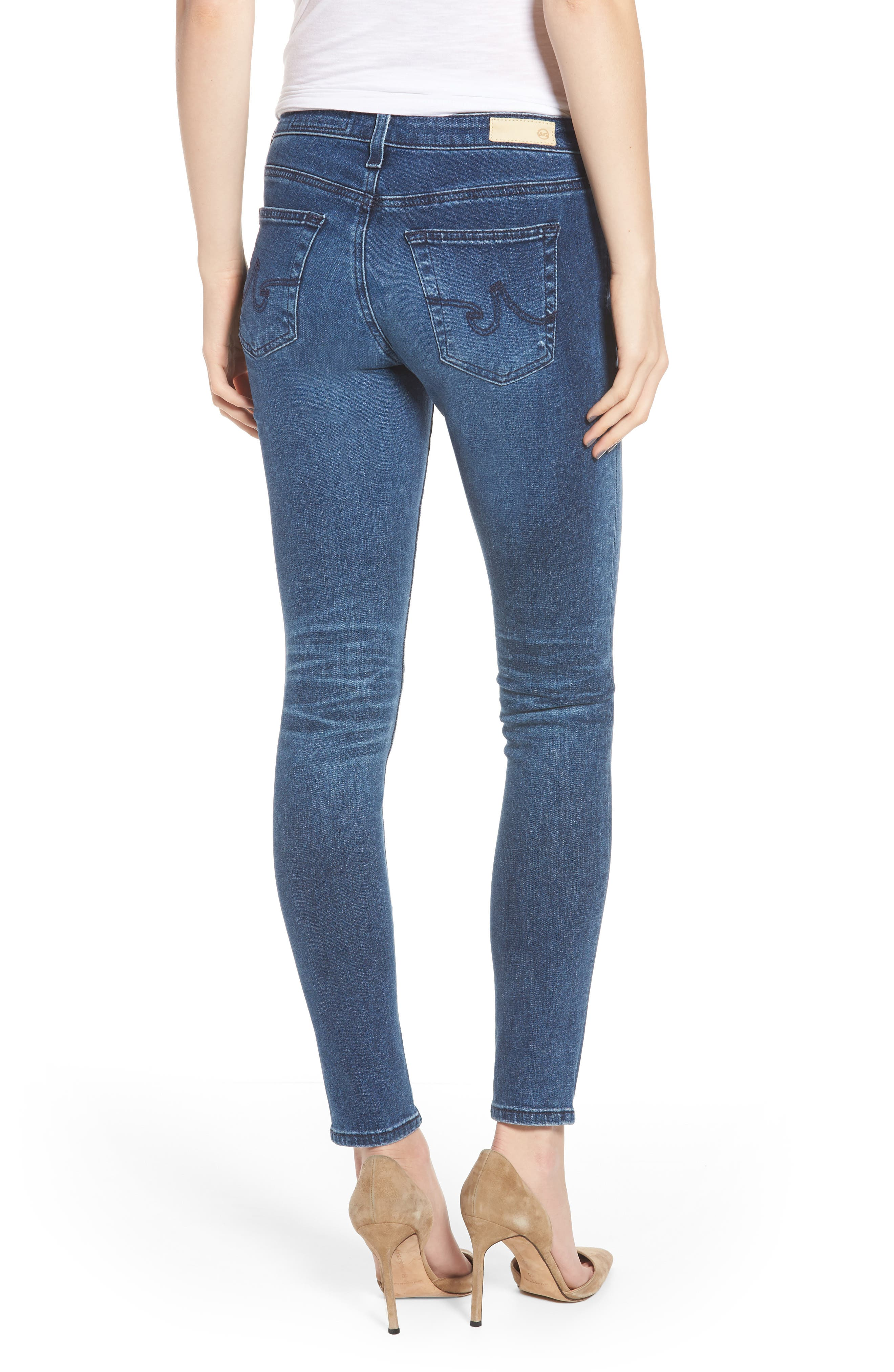 AG,                             The Legging Ankle Super Skinny Jeans,                             Alternate thumbnail 2, color,                             401