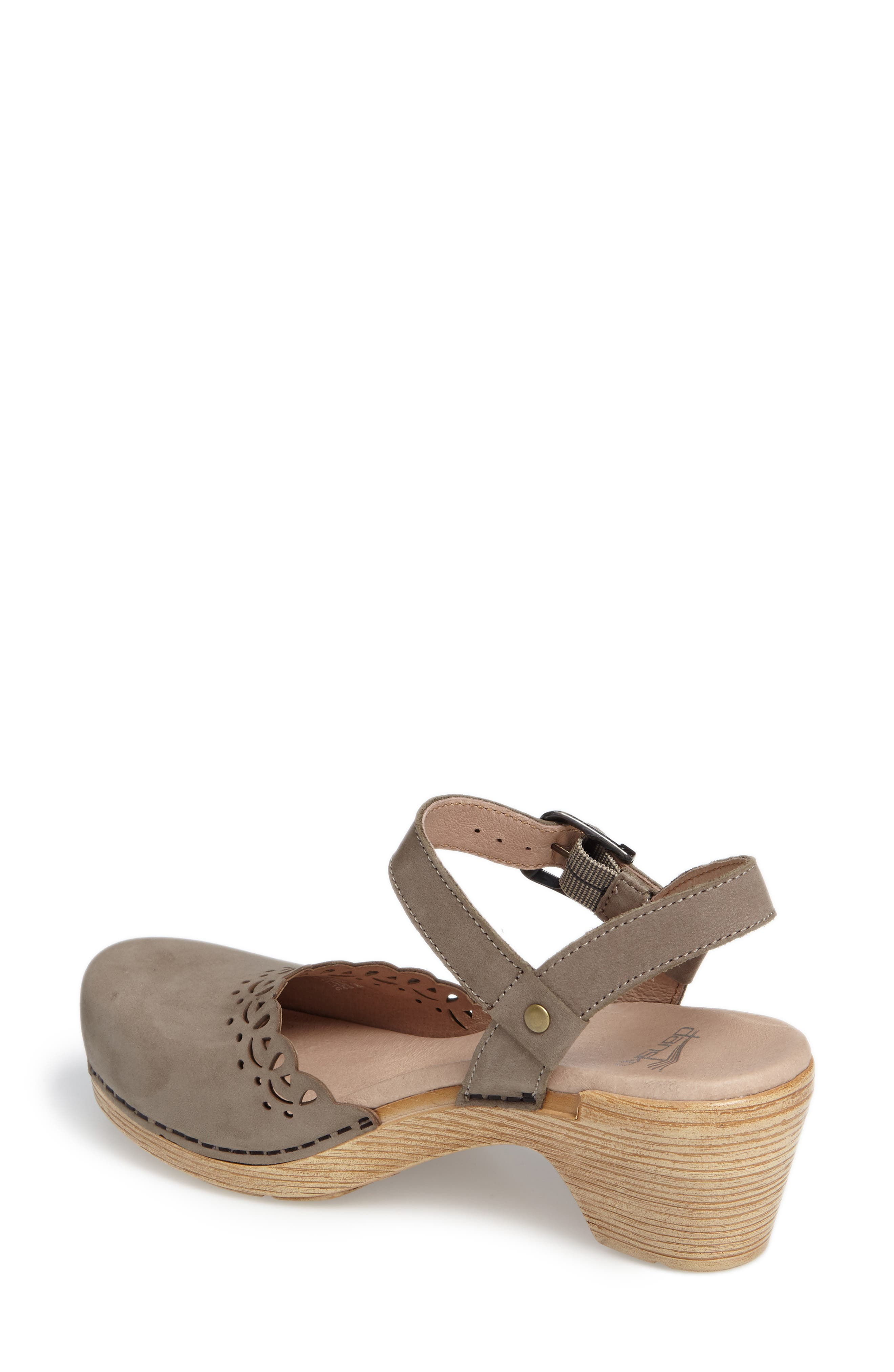 'Marta' Ankle Strap Clog,                             Alternate thumbnail 8, color,