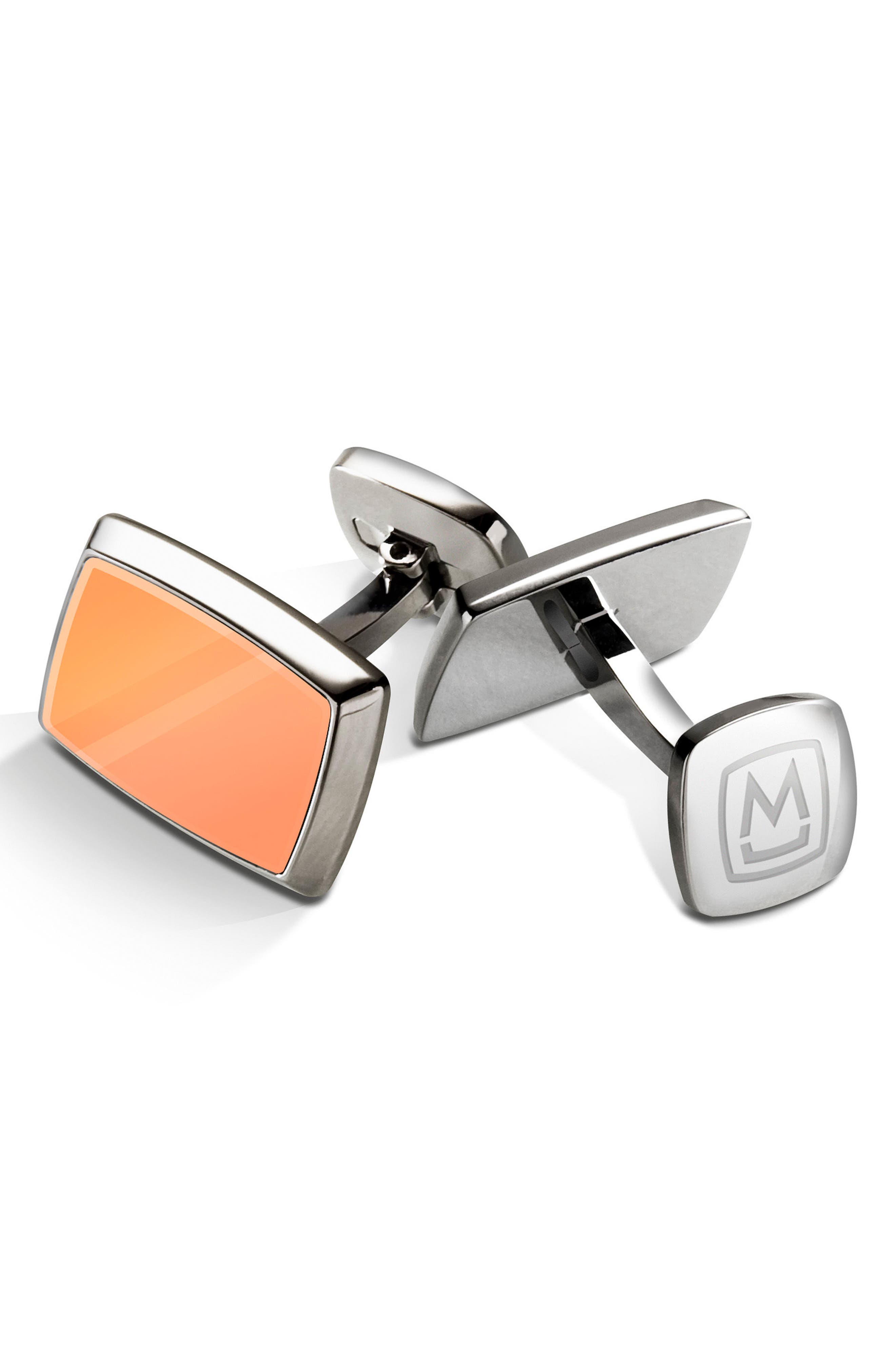 M-Clip Stainless Steel Cuff Links,                             Main thumbnail 1, color,                             650