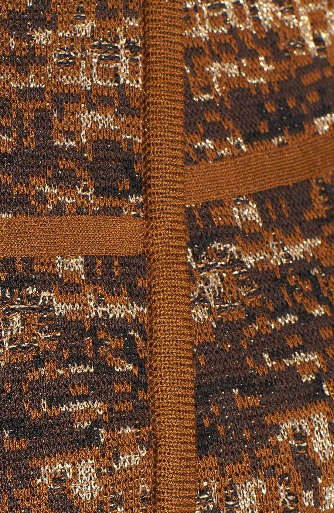 Asymmetrical Jacquard Knit Jacket,                             Alternate thumbnail 5, color,                             241