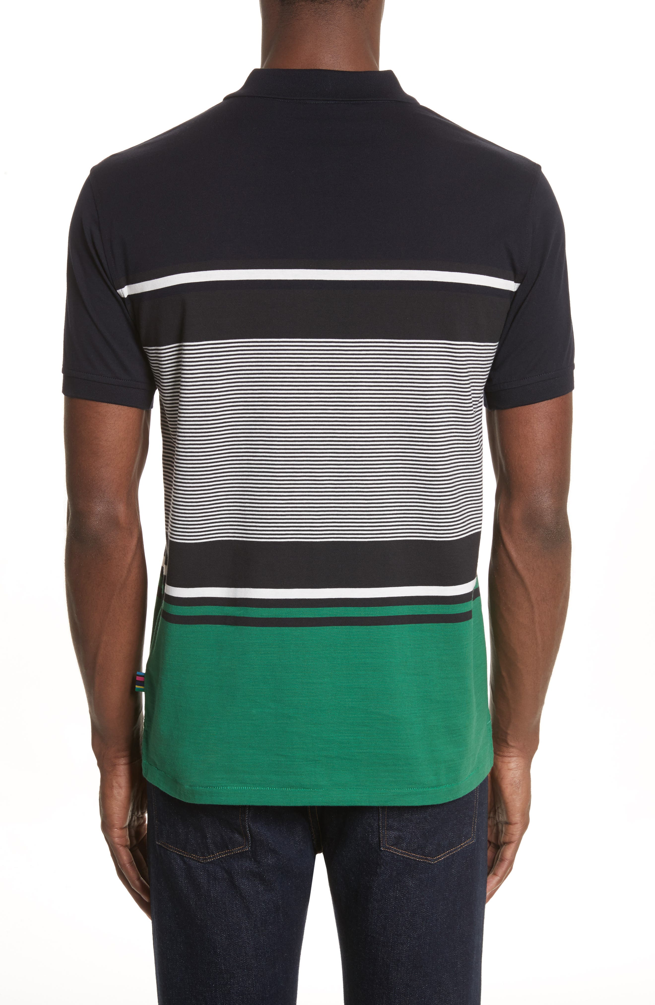 Stripe Jersey Polo,                             Alternate thumbnail 2, color,                             410