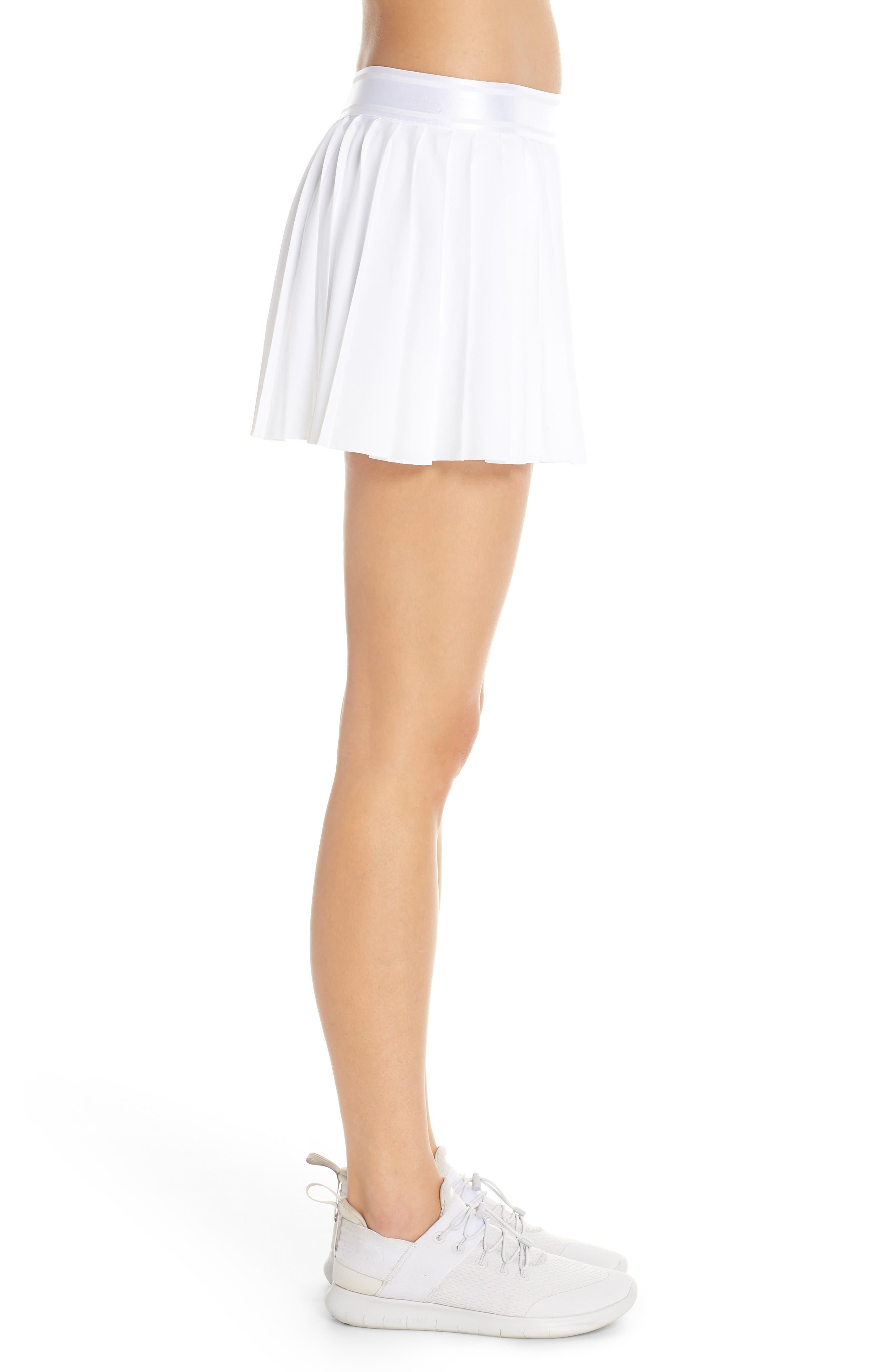 Court Victory Tennis Skirt,                             Alternate thumbnail 3, color,                             WHITE/ BLACK