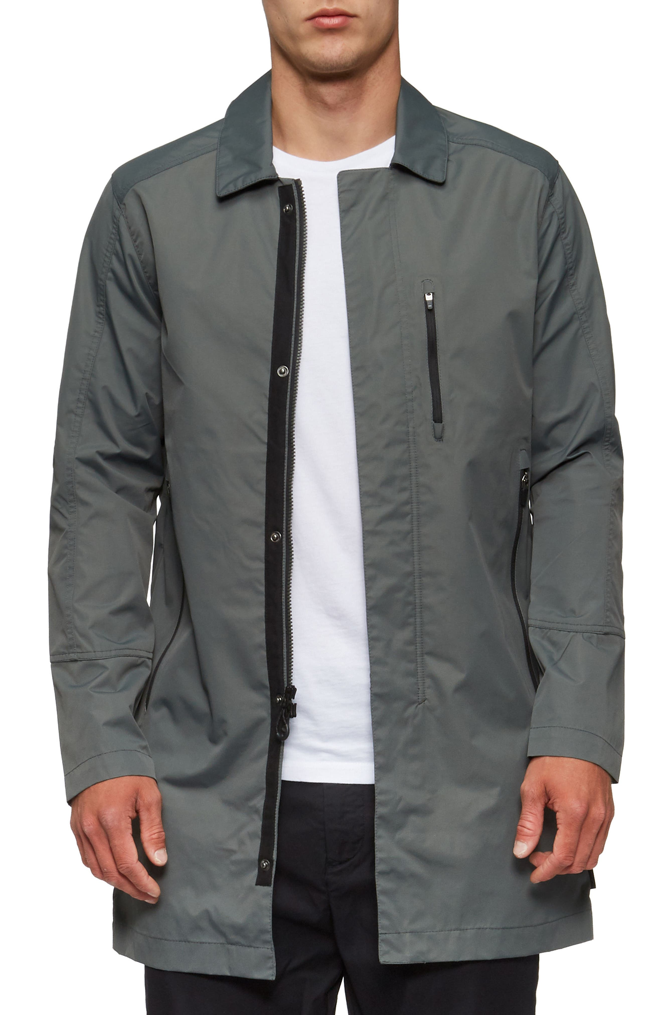 Deckard Weather Resistant Trench Coat,                             Alternate thumbnail 4, color,                             307