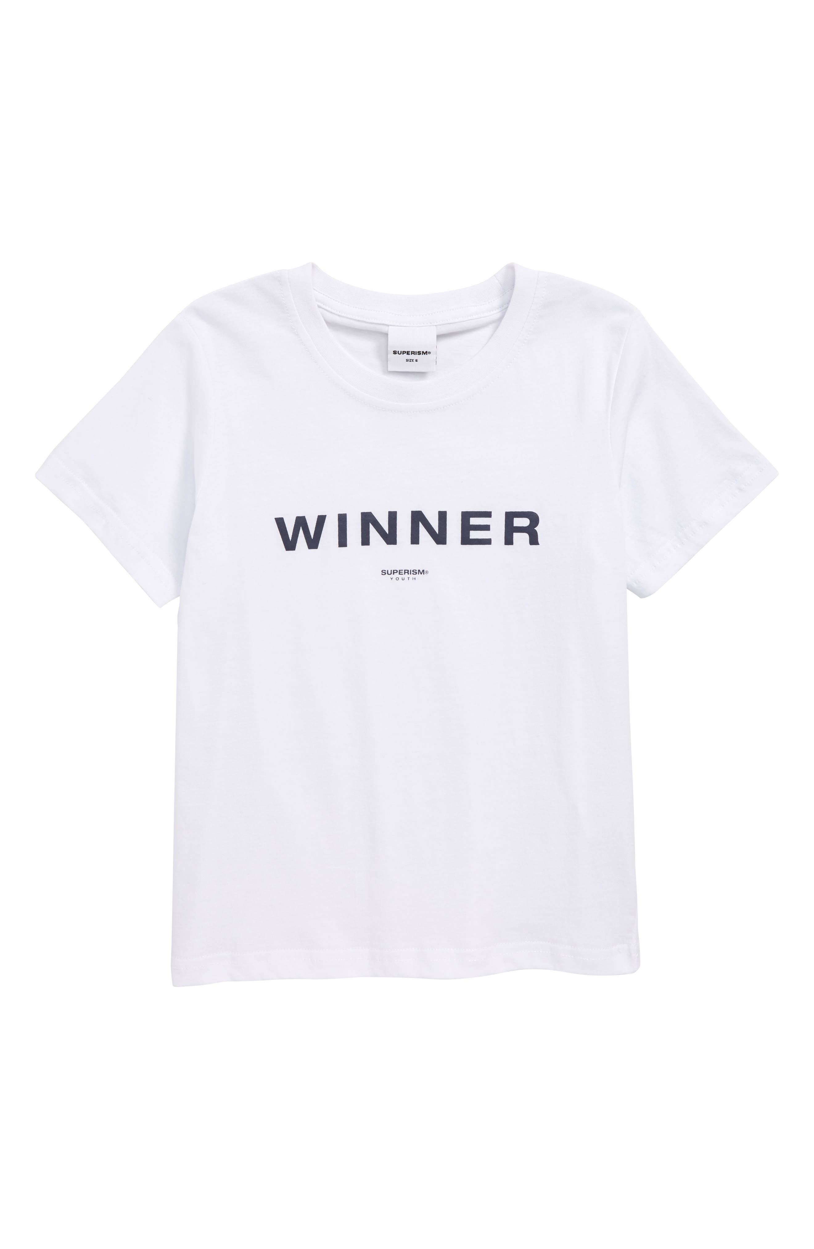 Winner T-Shirt,                         Main,                         color, WHITE